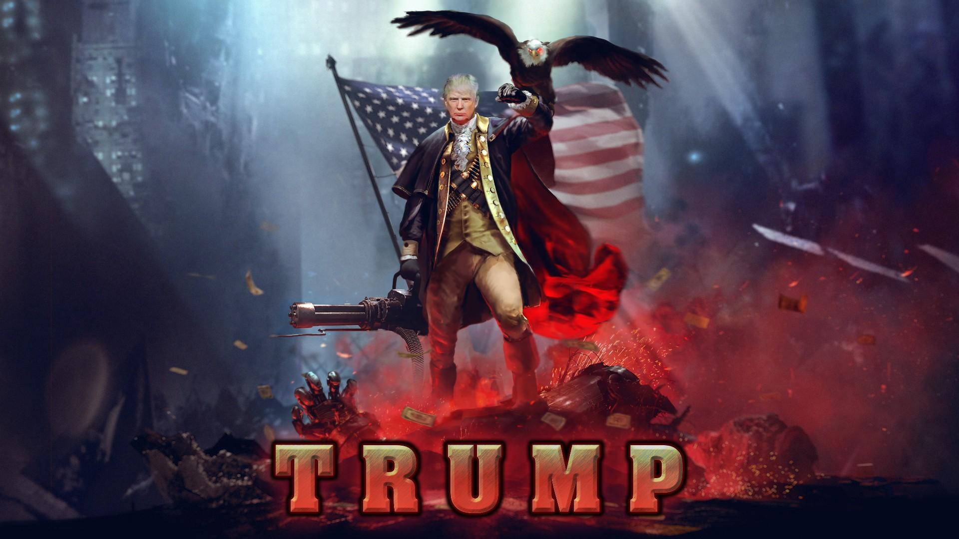 Wallpaper Donald Trump Mythology Politics Screenshot