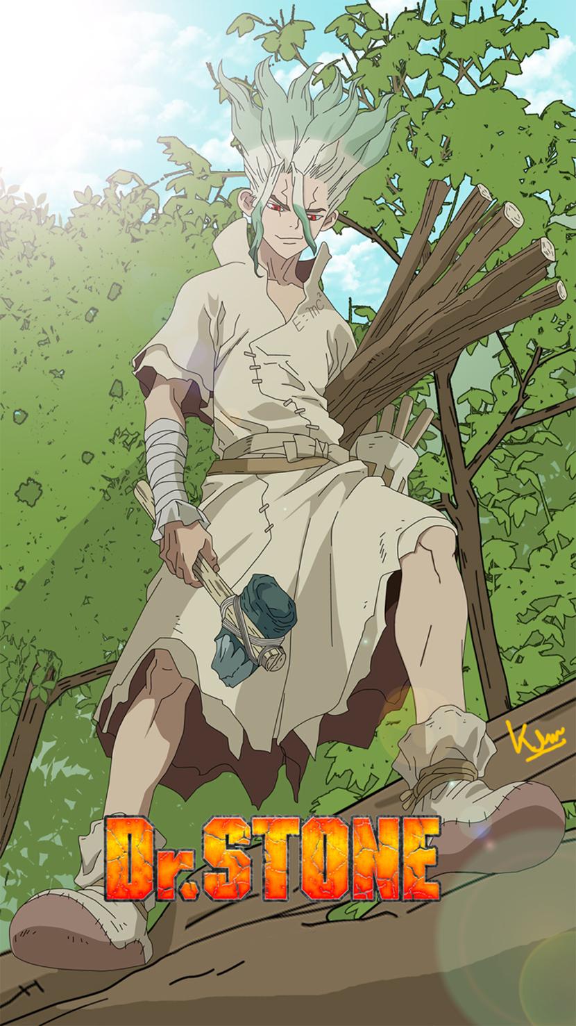 Wallpaper Dr Stone Senkuu Ishigami Anime Boys Fan Art Poster Artwork Anime Man 830x1477 Koreoxy 1758833 Hd Wallpapers Wallhere