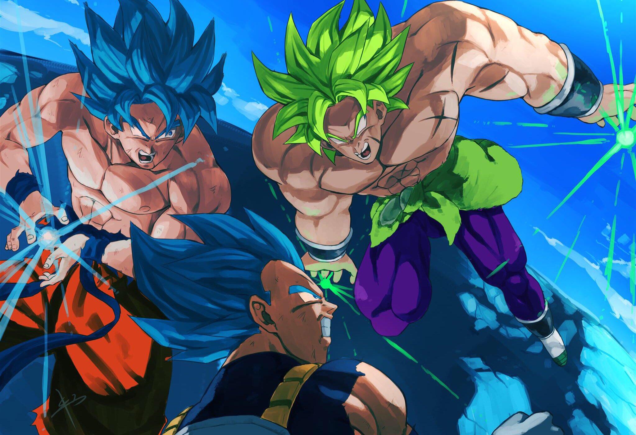 Dragon Ball Super Movie Vegeta Son Goku Broly Saiyan Blue Legendary