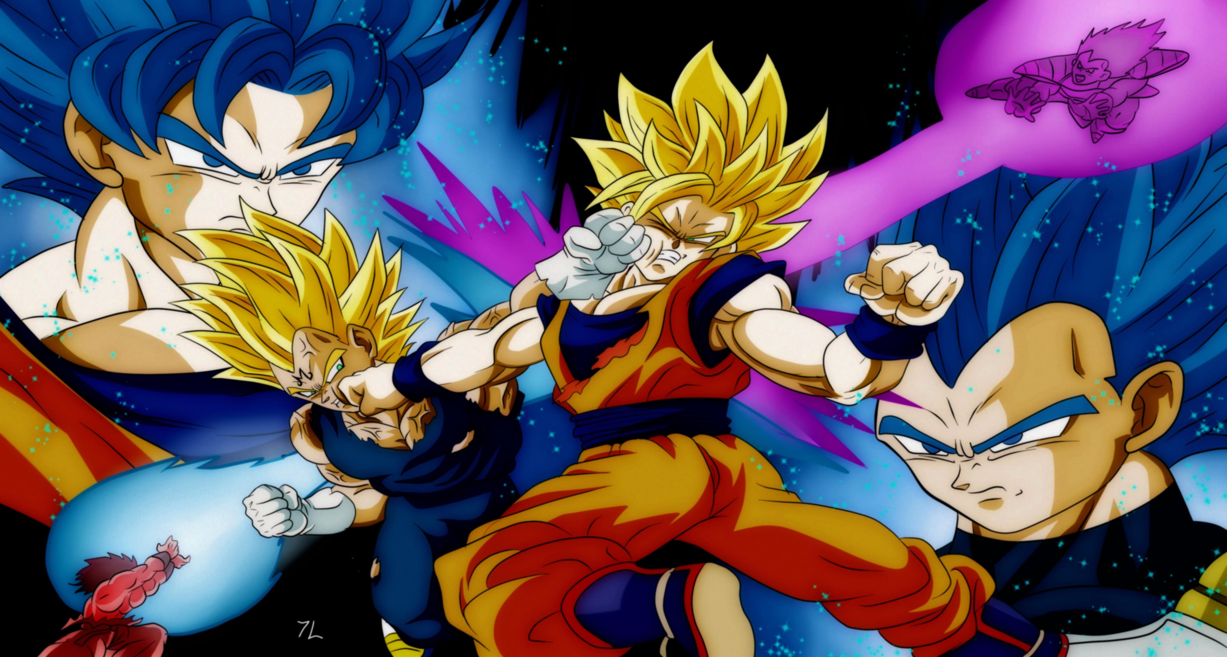 Wallpaper Dragon Ball Dragon Ball Z Son Goku Vegeta Super