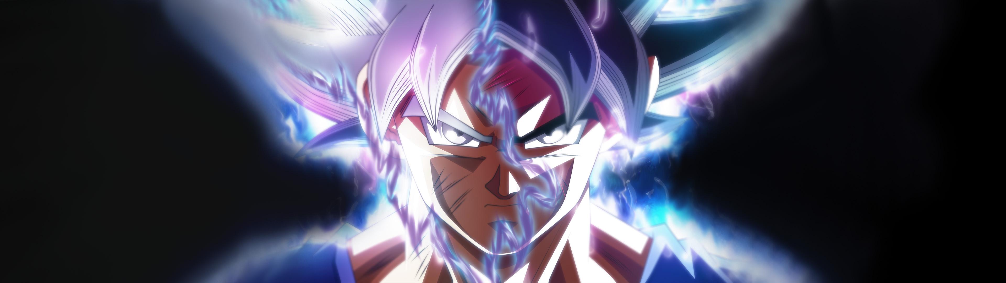 Dragon Ball Son Goku ultra instict 3840 x 1080 multiple display