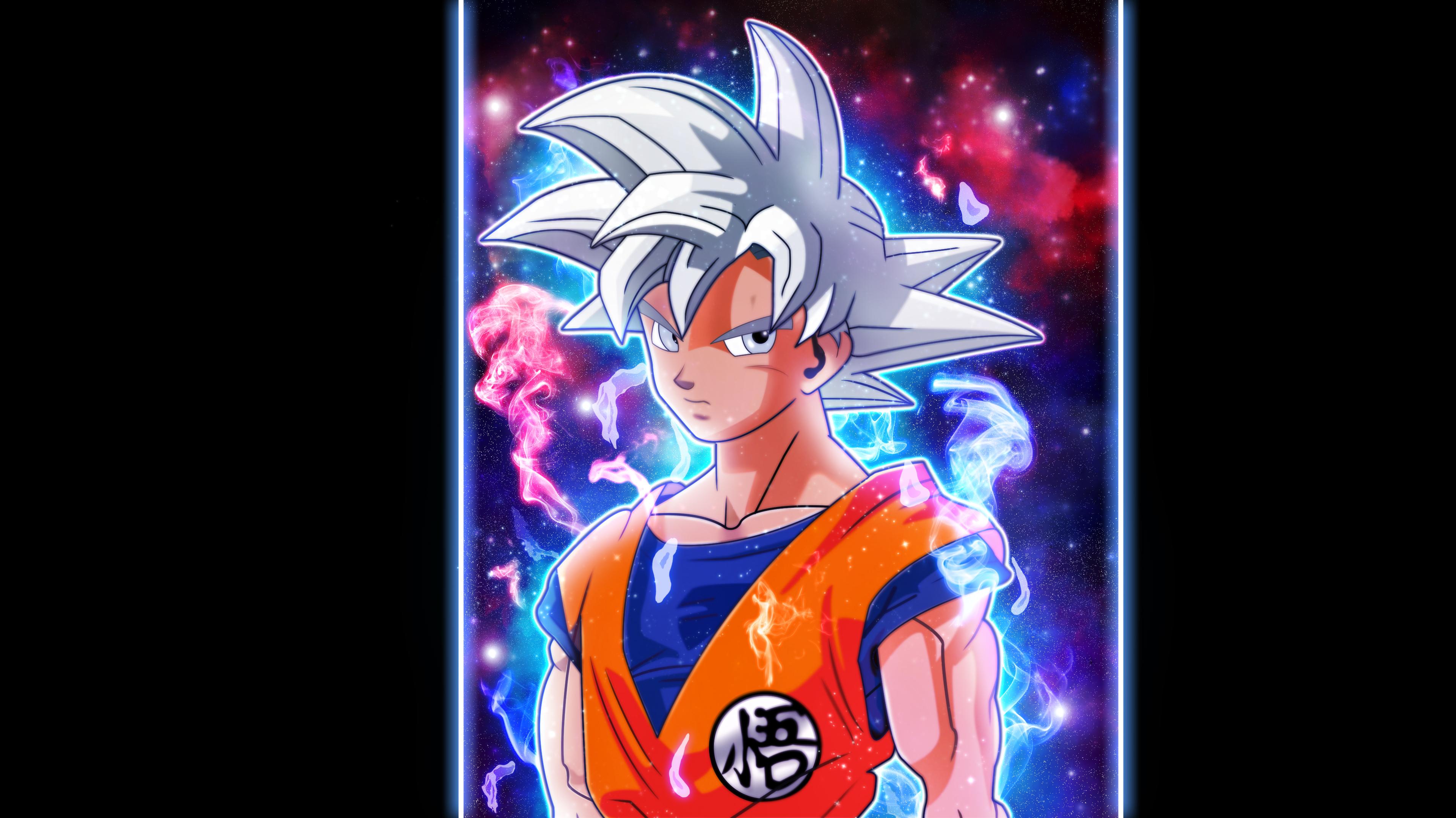 Fond d 39 cran dragon ball super son goku ultra instinct for Fond ecran goku