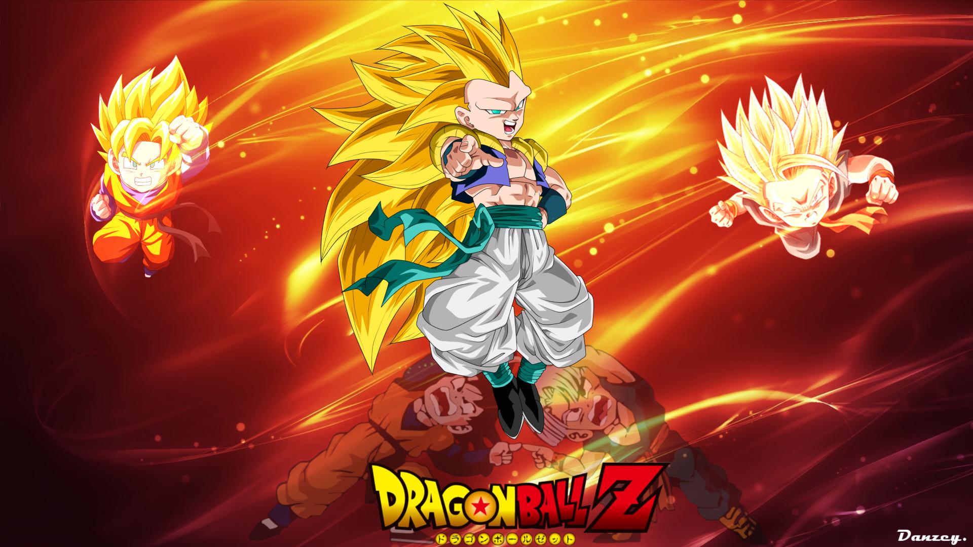 Wallpaper Dragon Ball Z Gotenks Animado Son Goten Trunks
