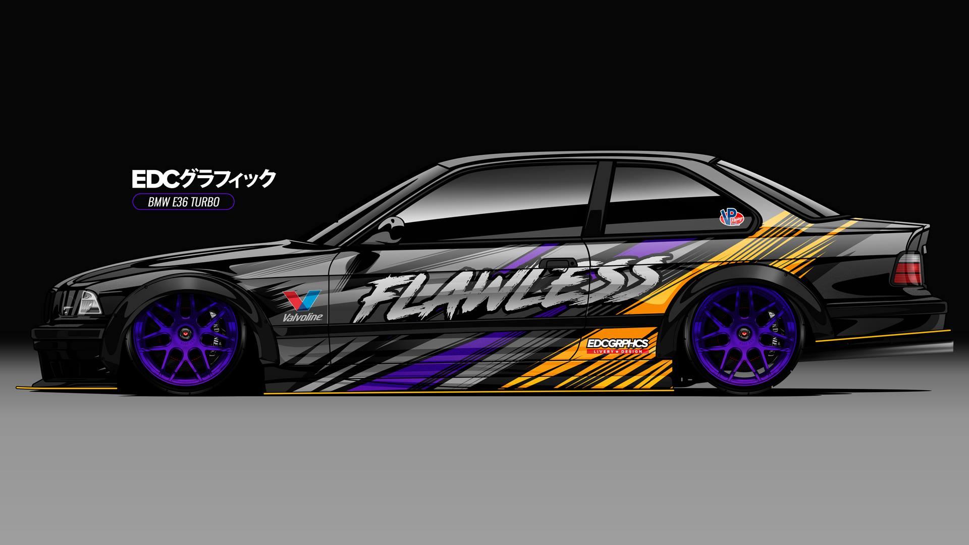 EDC Graphics, bmw m3 e36, BMW, render
