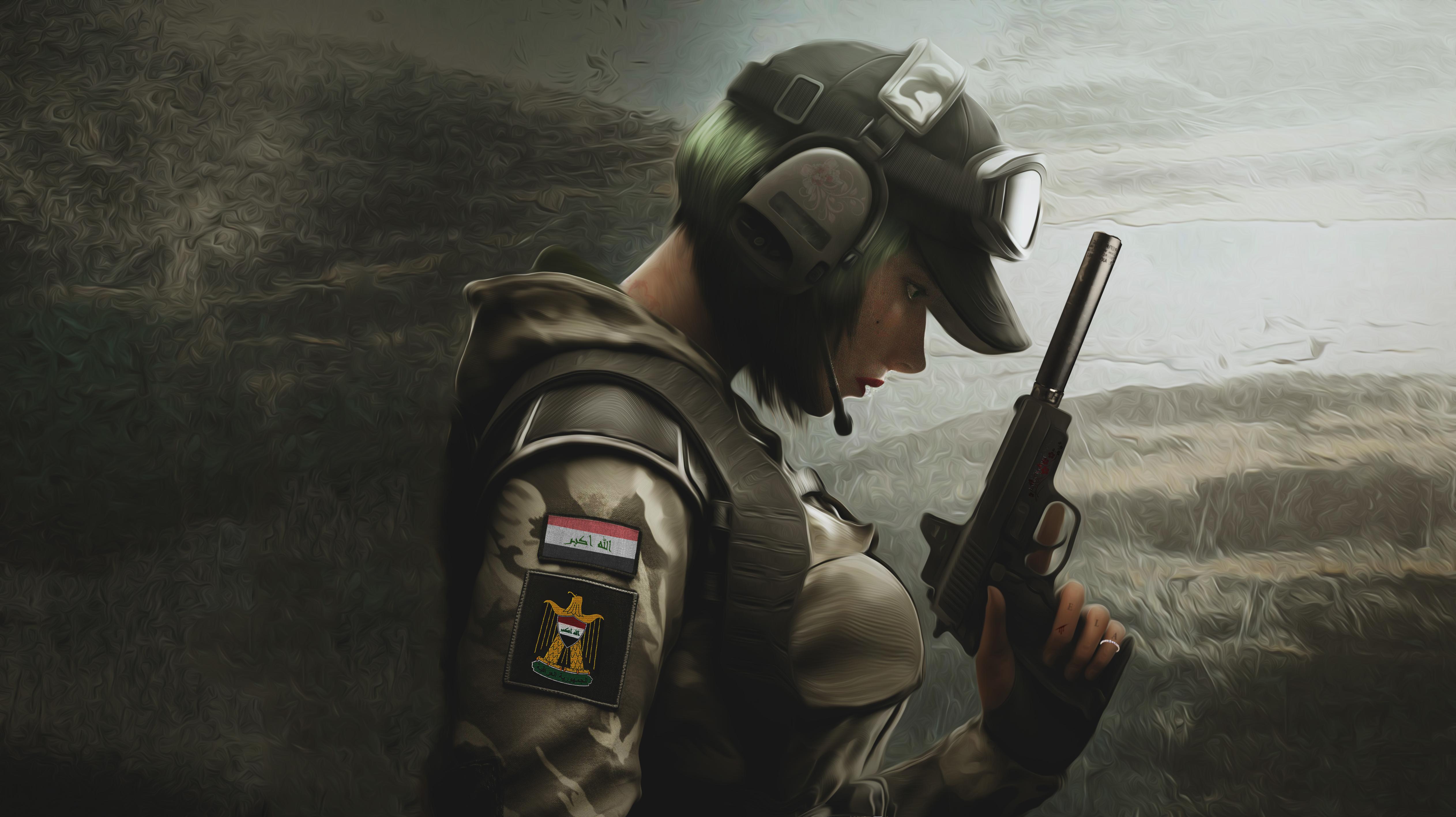 Wallpaper Ela Bosak Rainbow 6 Siege Rainbow Six Iraq