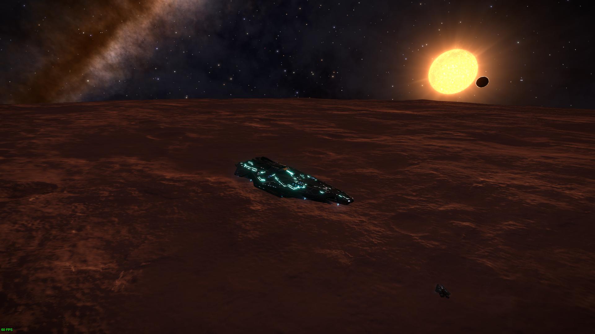 Wallpaper Elite Dangerous Anaconda Spaceship Stars Planet