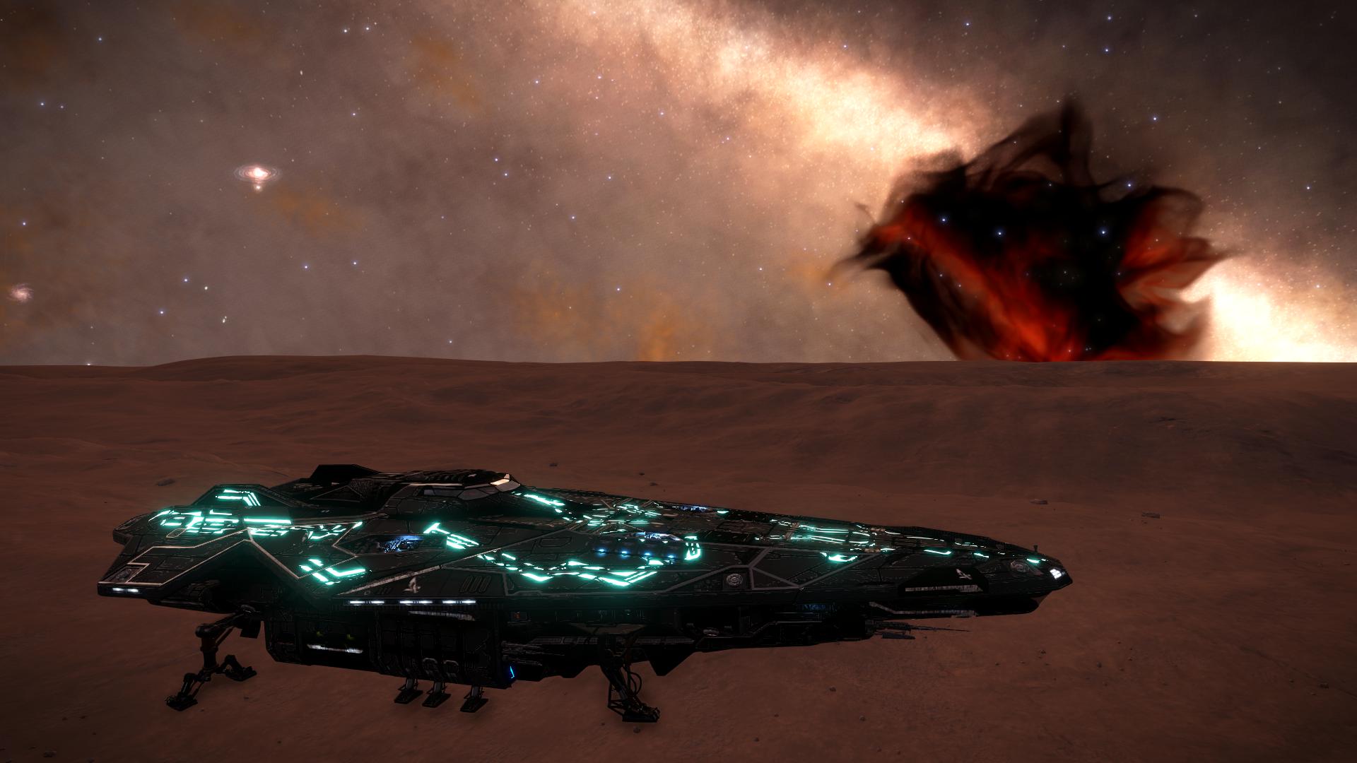 Wallpaper Elite Dangerous Video Games Space Nebula Anaconda