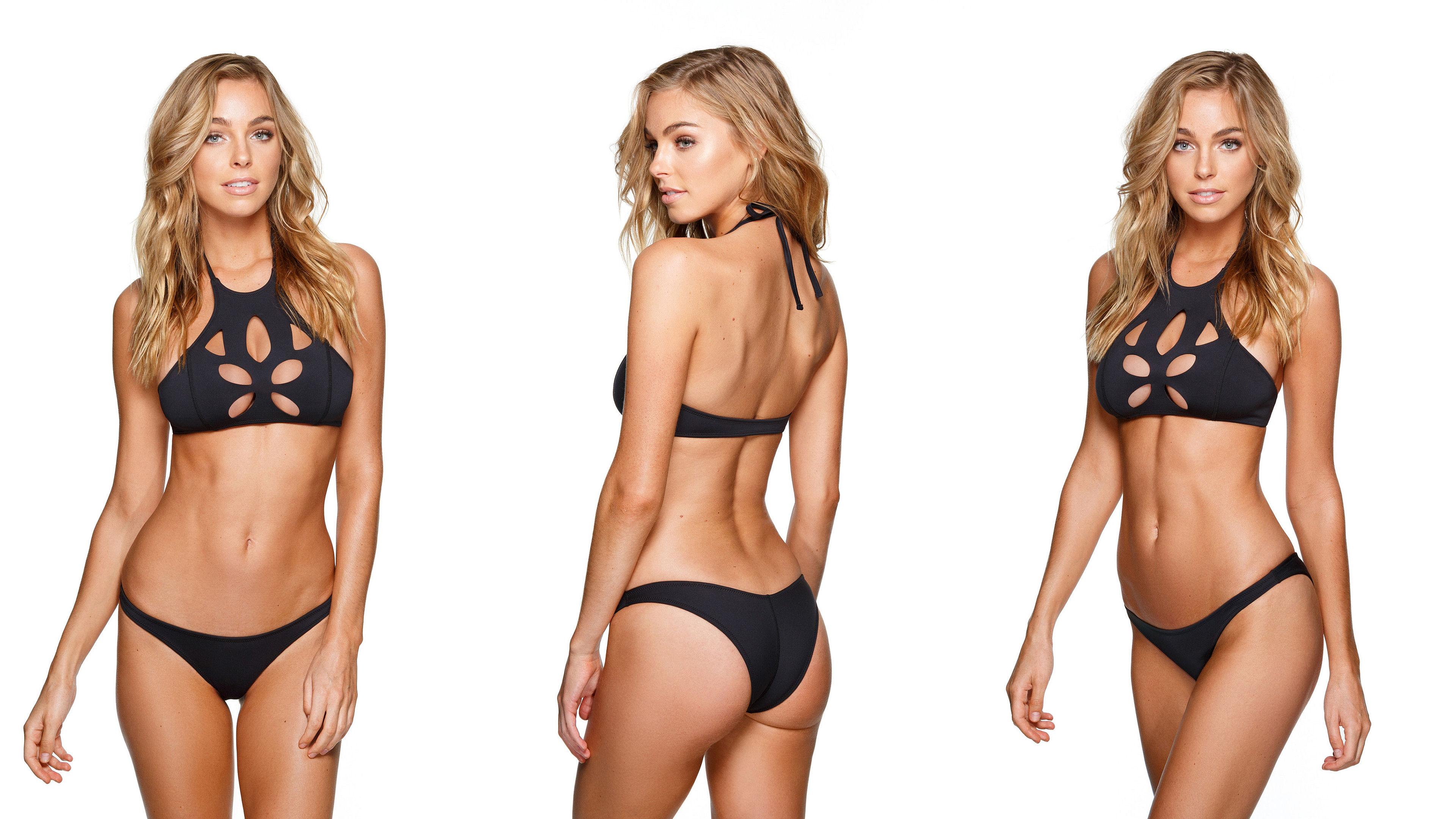 wallpaper : elizabeth turner, black bikini, blonde, panties