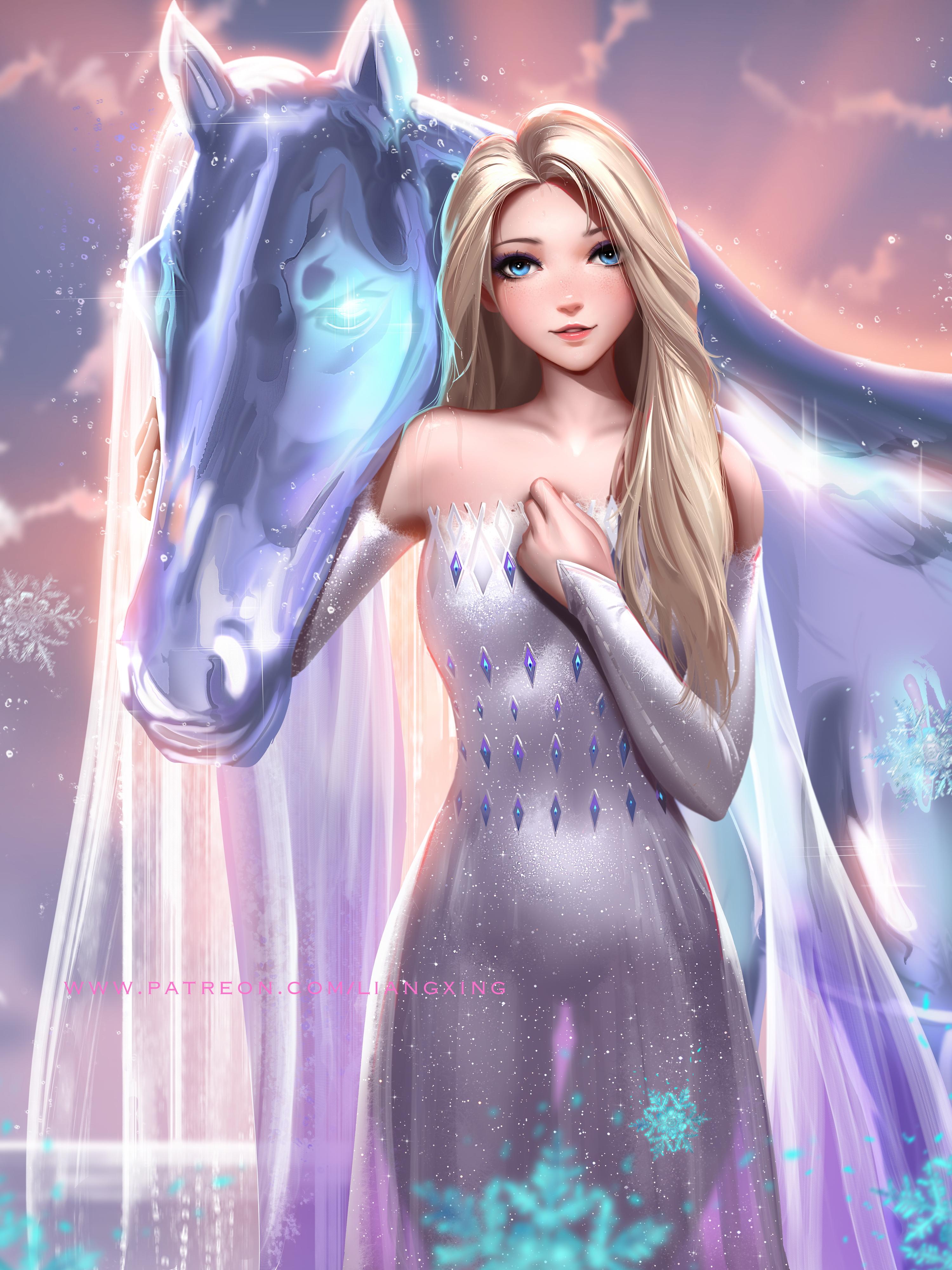 デスクトップ壁紙 エルサ 冷凍映画 Frozen 2 ディズニー