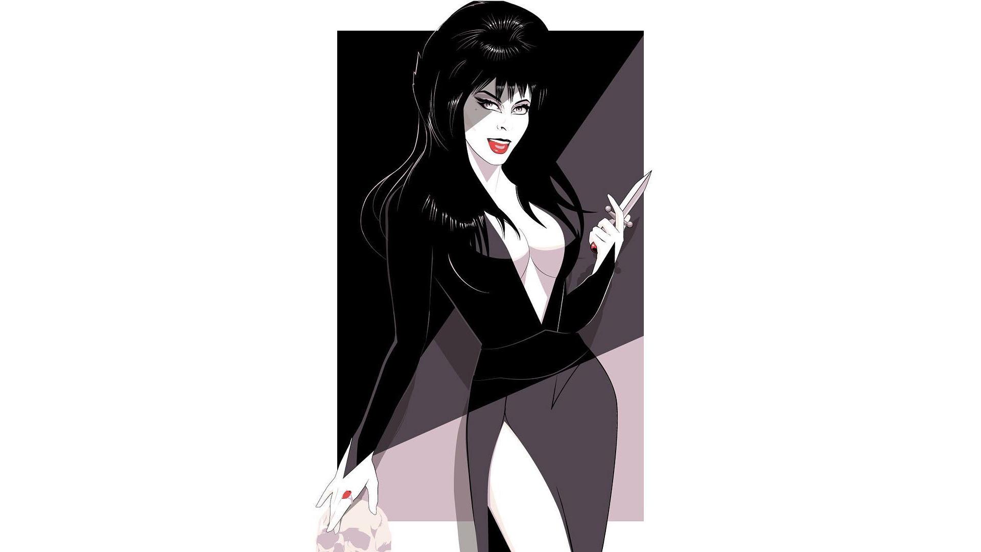 Wallpaper Elvira Mistress Of The Dark Artwork 1920x1080