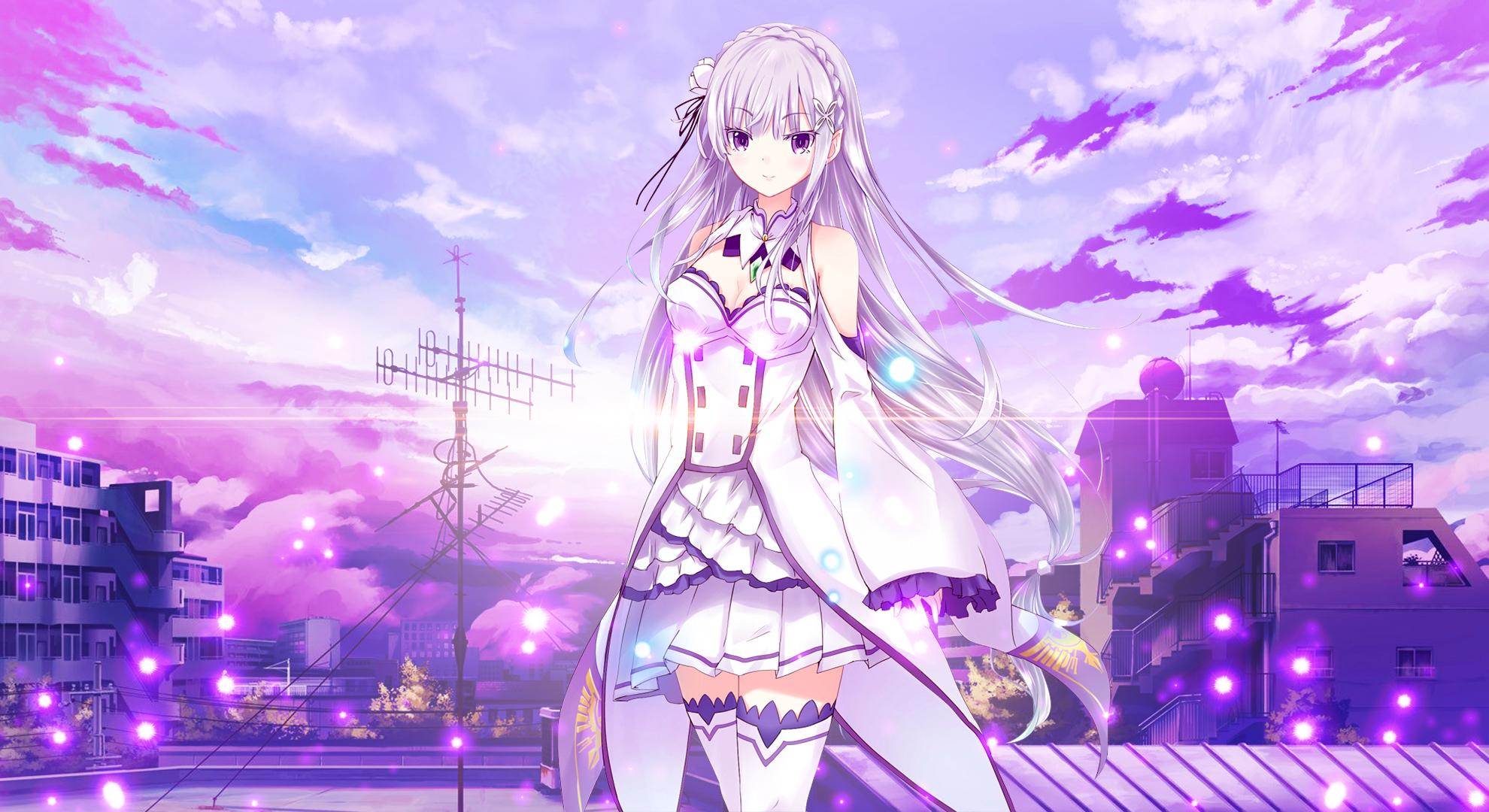 Wallpaper Emilia Re Zero Re Zero Kara Hajimeru Isekai Seikatsu