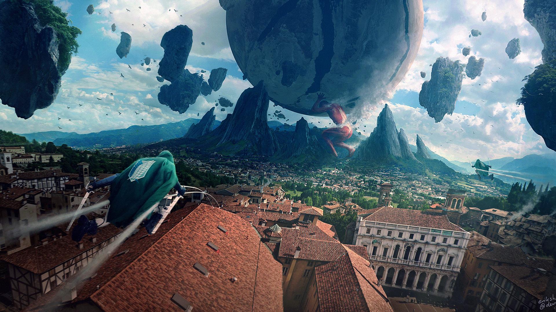 Wallpaper Erik Shoemaker Digital Art Artwork Attack On Titans