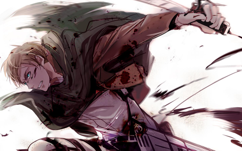 Wallpaper Erwin Smith Shingeki No Kyojin Anime Boys 1440x900 Griffith 1378537 Hd Wallpapers Wallhere