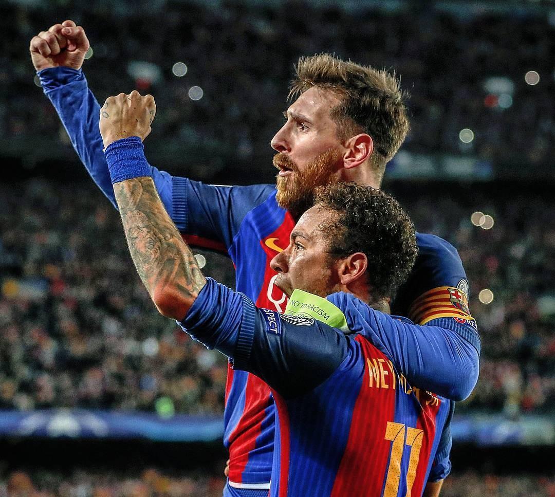 FC Barcelona Soccer Clubs Lionel Messi Neymar JR Camp Nou
