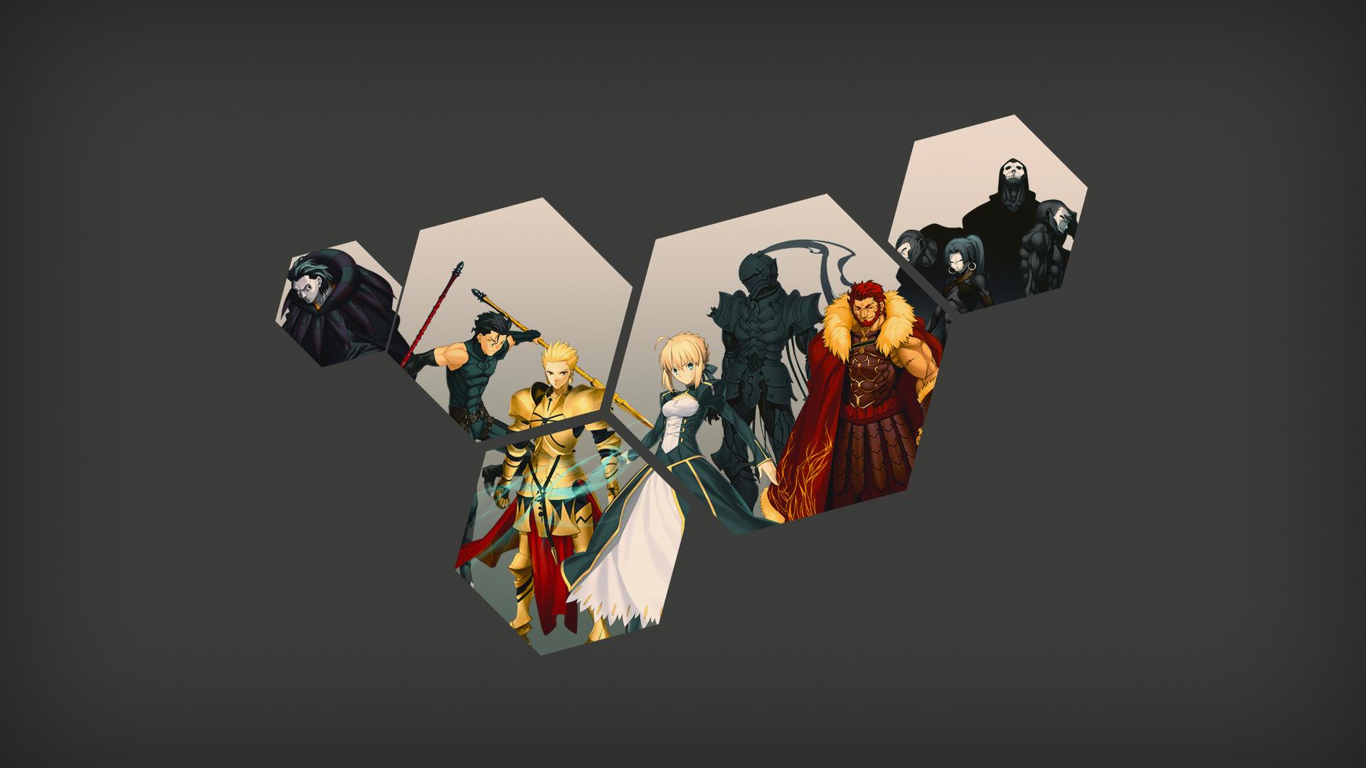 Wallpaper Fate Series Fate Zero Saber Gilgamesh Rider Fate