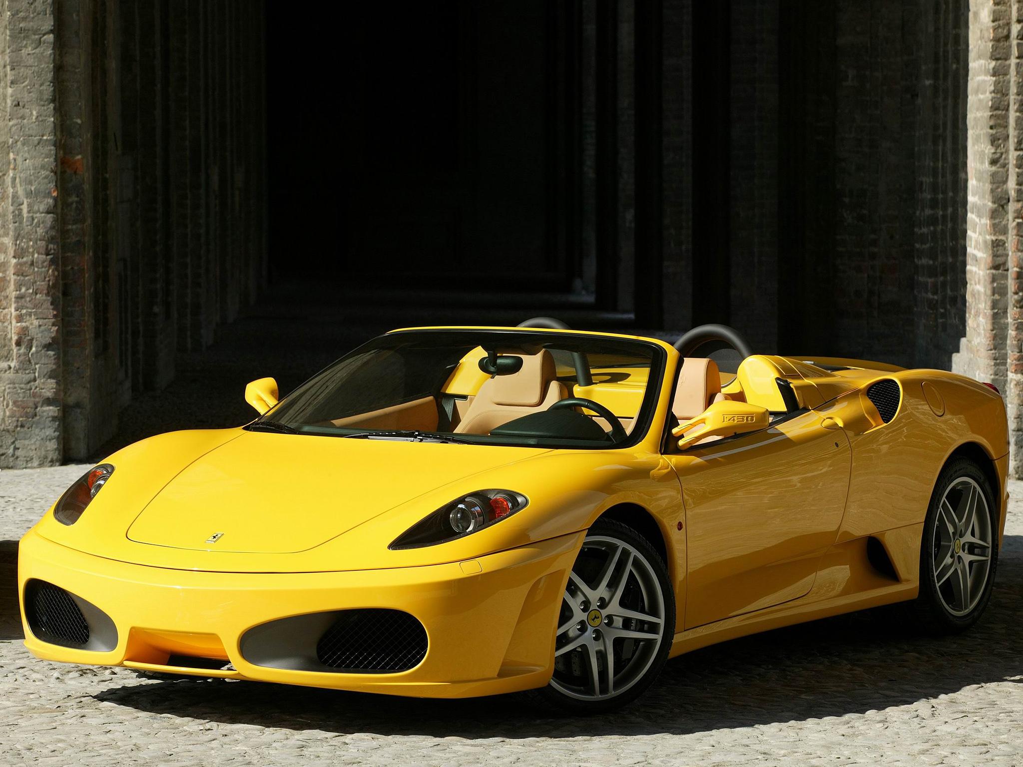 Fondos De Pantalla Ferrari F430 Araña Amarillo