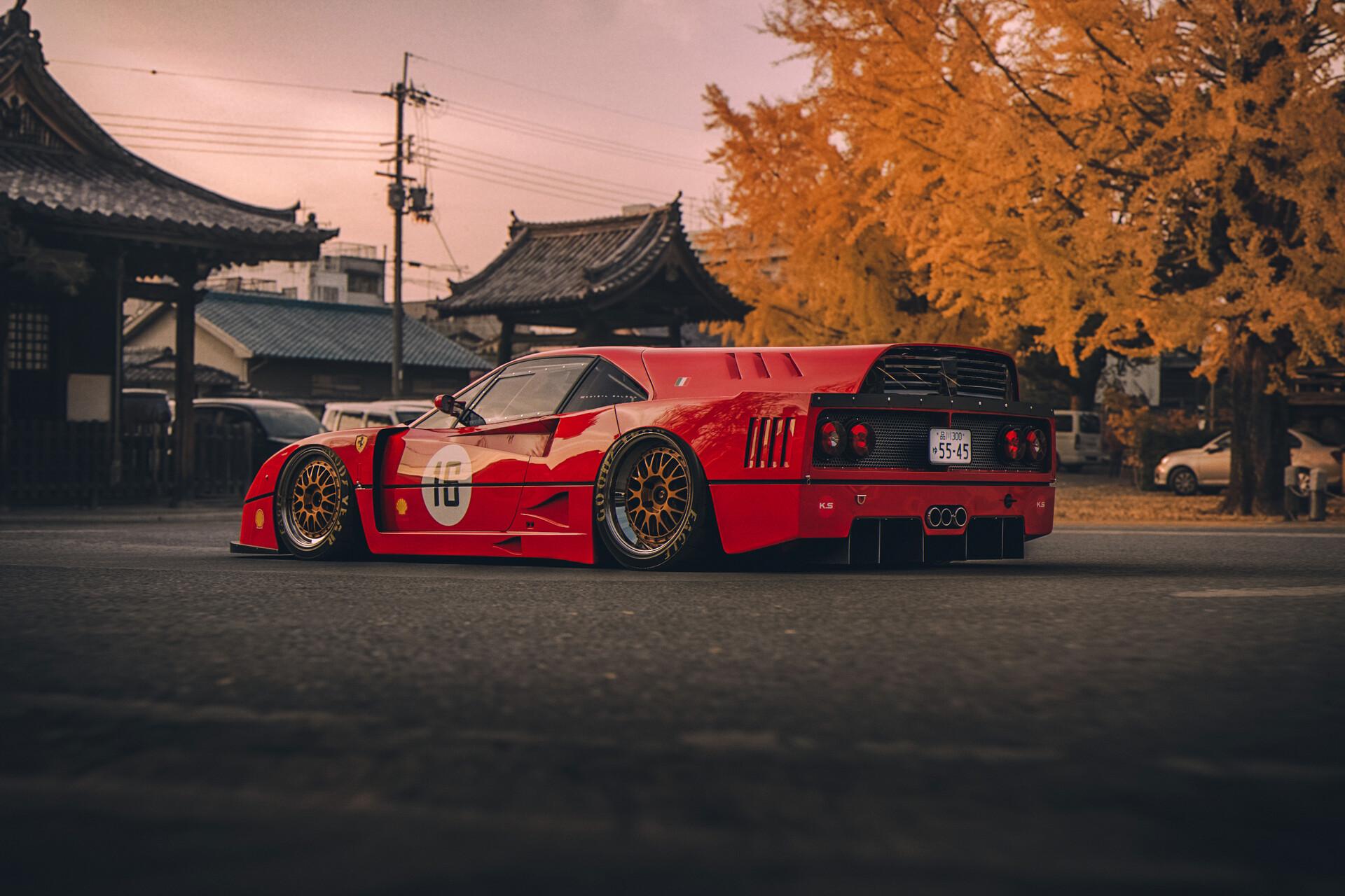 Wallpaper  Ferrari F40, Japan, red 1920x1280 , Elizium