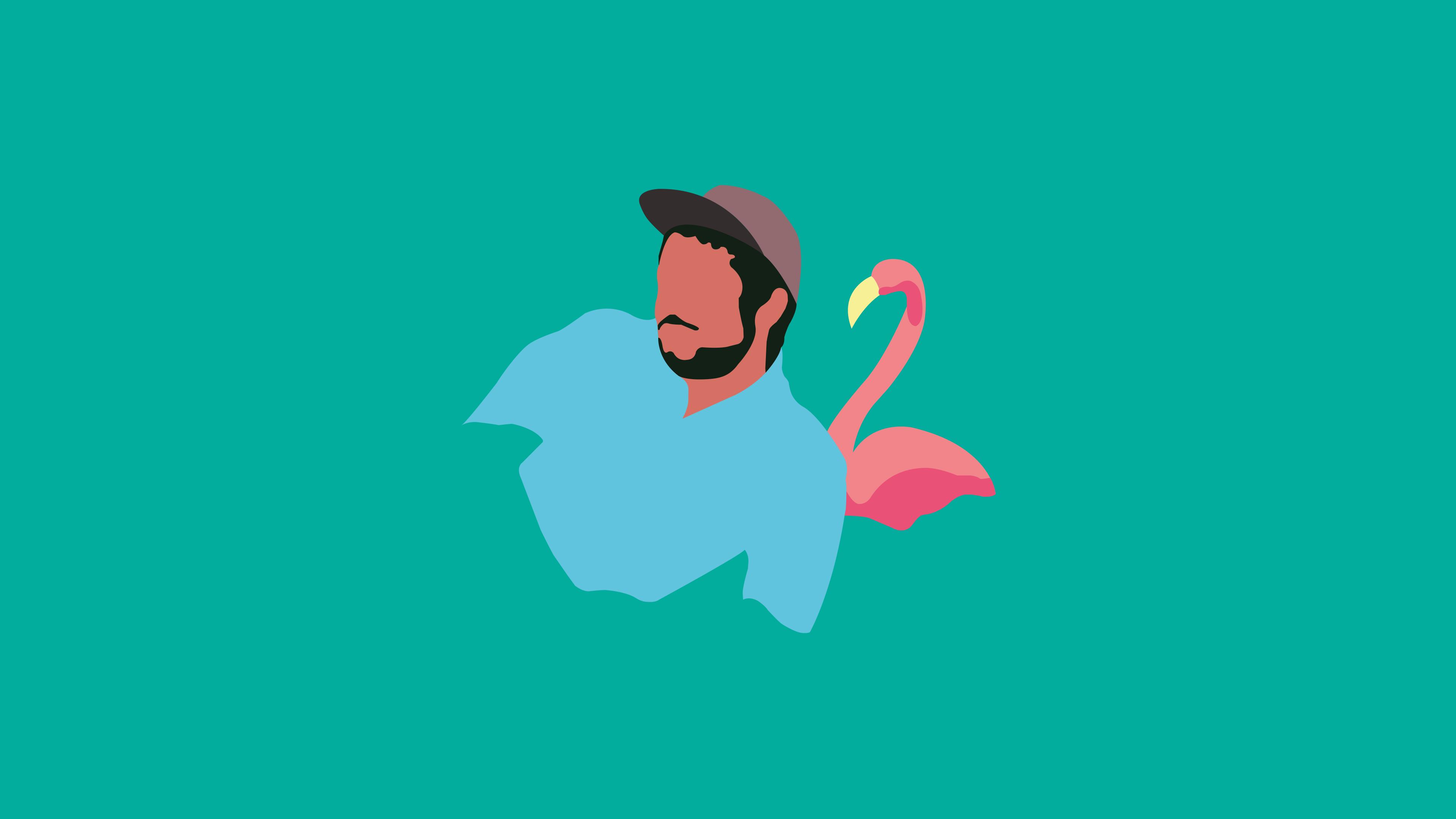 Wallpaper Flamingosis Adobe Illustrator Designer