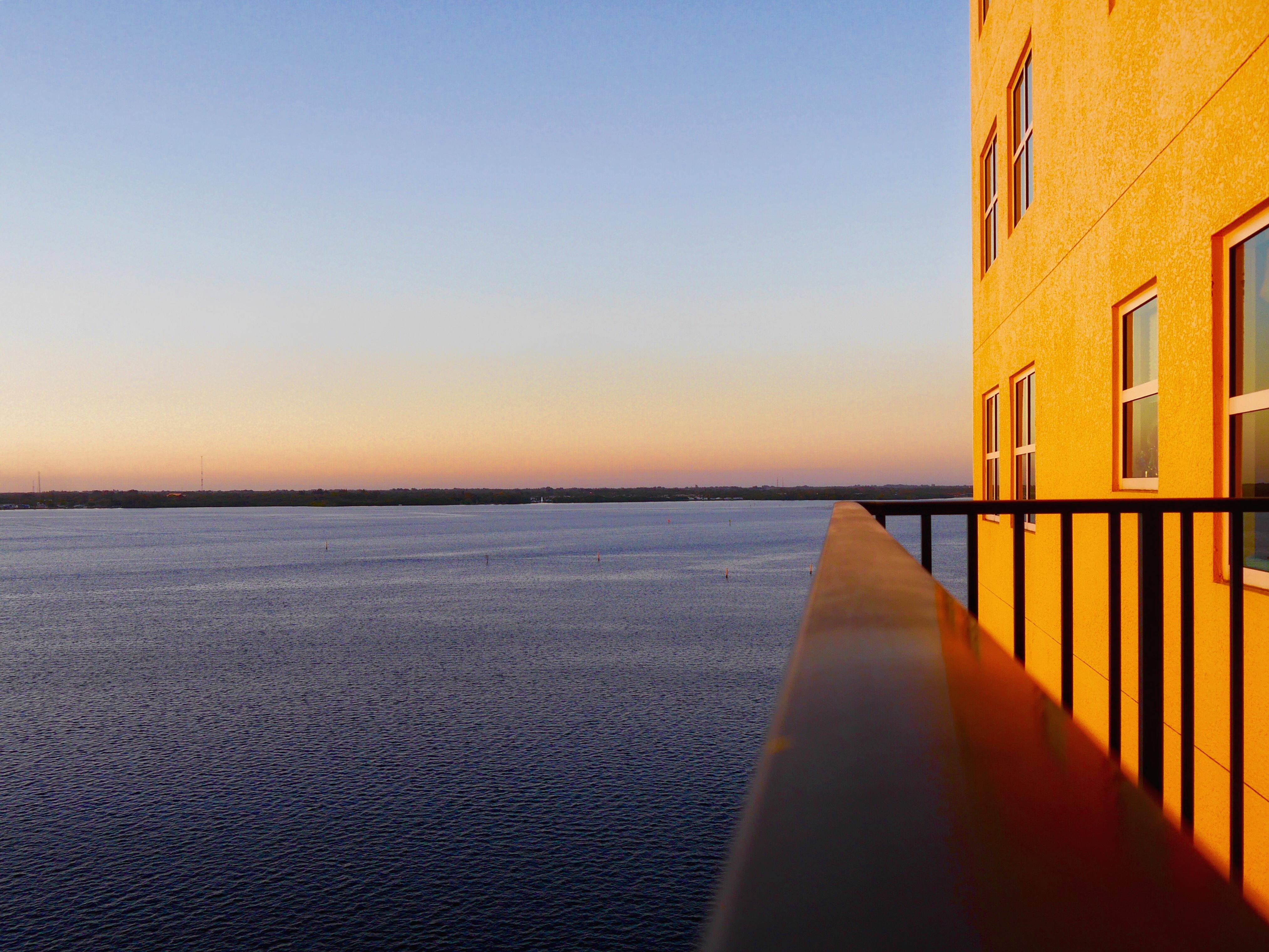 Florida fortmyers sky windows water balcony perspective sunrise