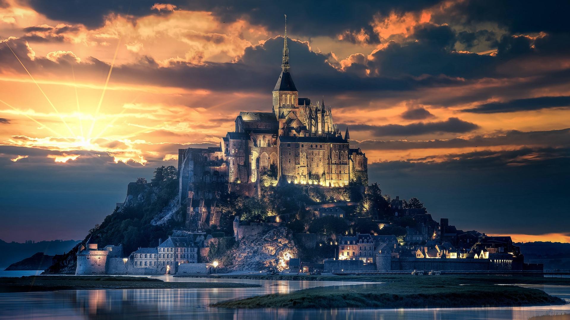 Fondos De Pantalla Francia Mont Saint Michel Isla