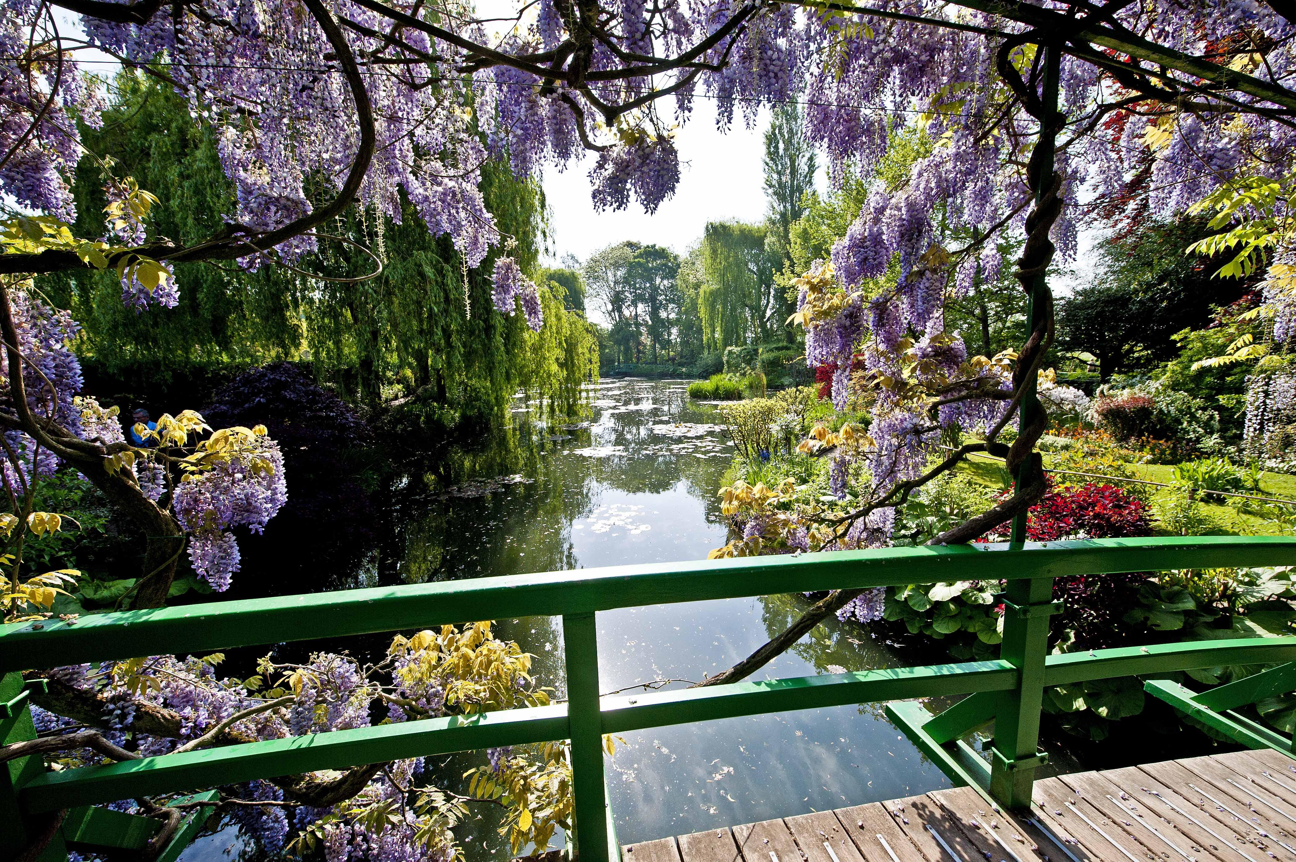 Fond d\'écran : France, jardins, mai, des ponts, treillis, Monet ...
