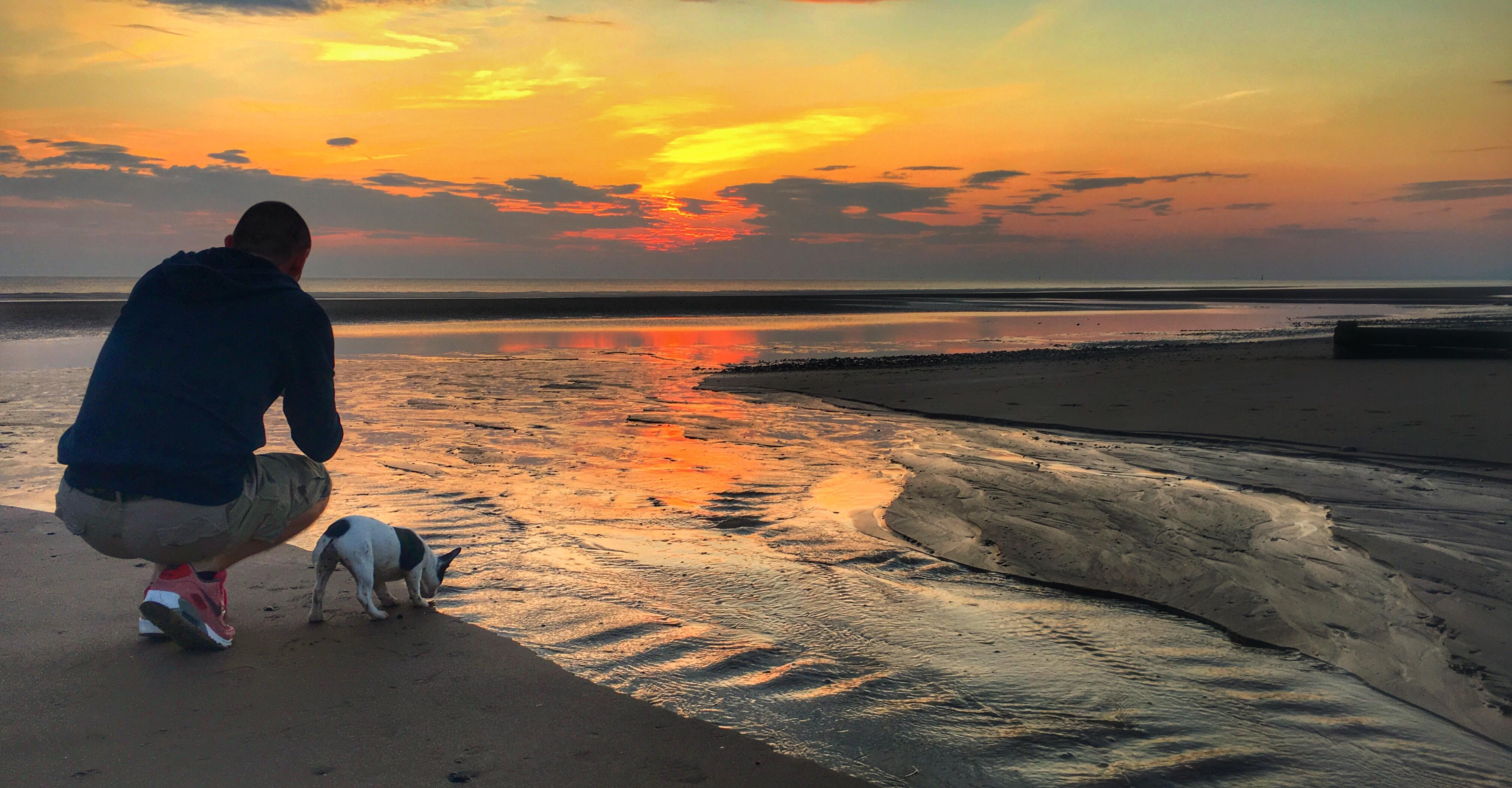 Wallpaper Friends Sunset Sea Wild Summer Portrait