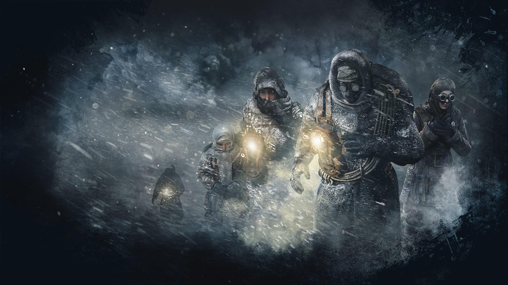 Wallpaper Frostpunk Video Games Video Game Art Snow
