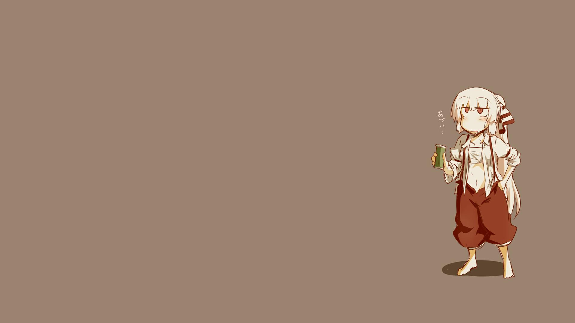 デスクトップ壁紙 藤原の桃子 東方 単純な背景 茶色の背景 アニメ 19x1080 Cristian04alex デスクトップ壁紙 Wallhere