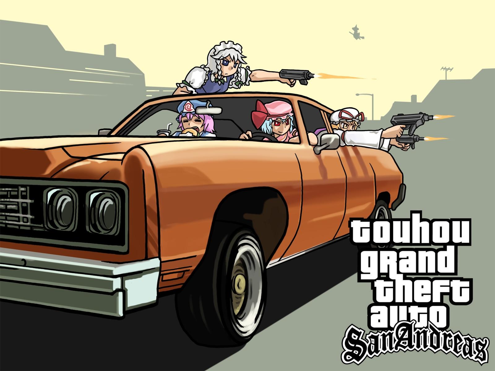 wallpaper : gta, grand theft auto, san andreas, car, anime 1600x1200