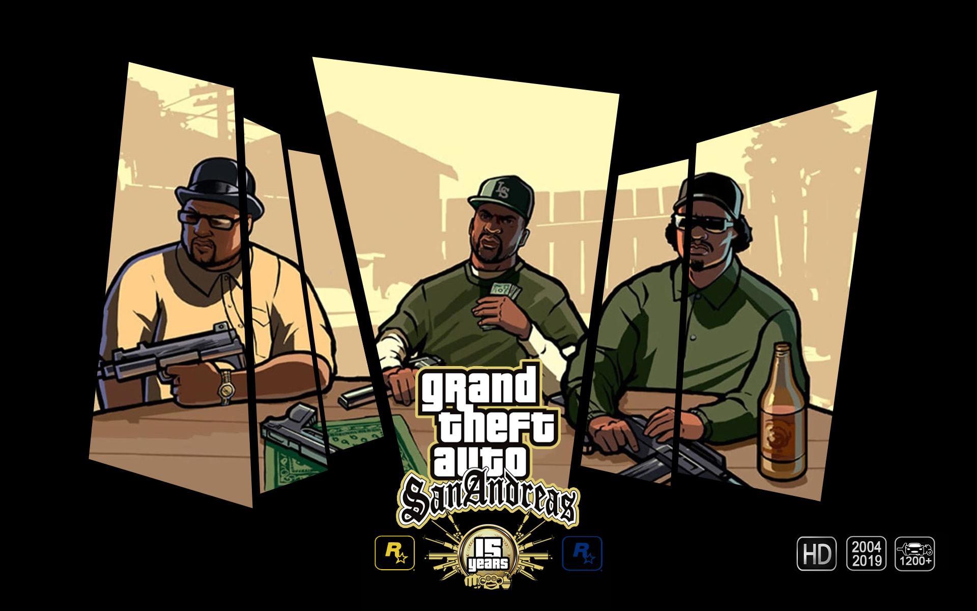 Wallpaper Gta Anniversary Gta San Andreas Grand Theft Auto