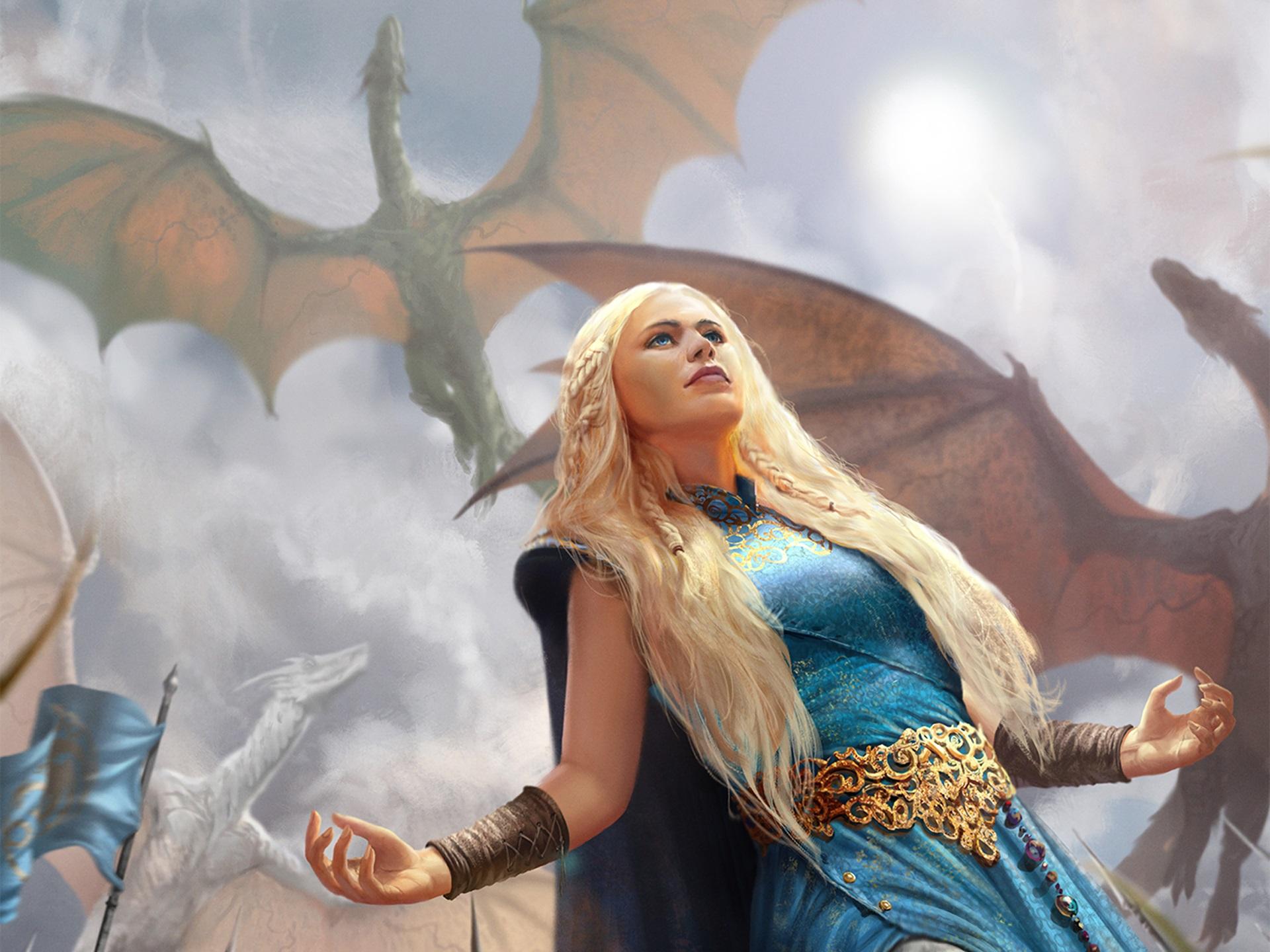Wallpaper Game Of Thrones Daenerys Targaryen Women Blonde
