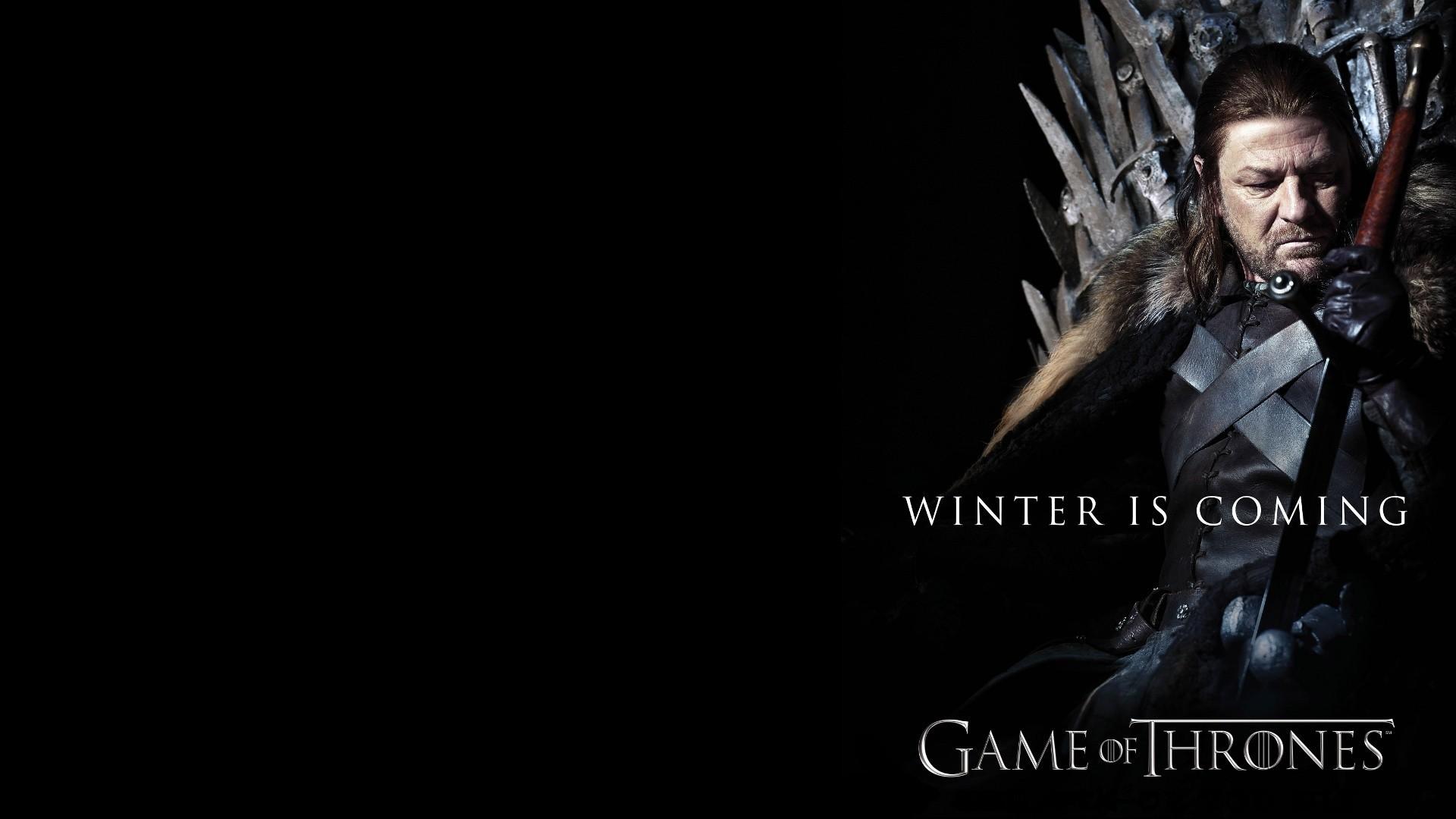 Game Of Thrones Winter Is Coming Ned Stark Sean Bean Darkness Screenshot 1920x1080 Px Computer Wallpaper