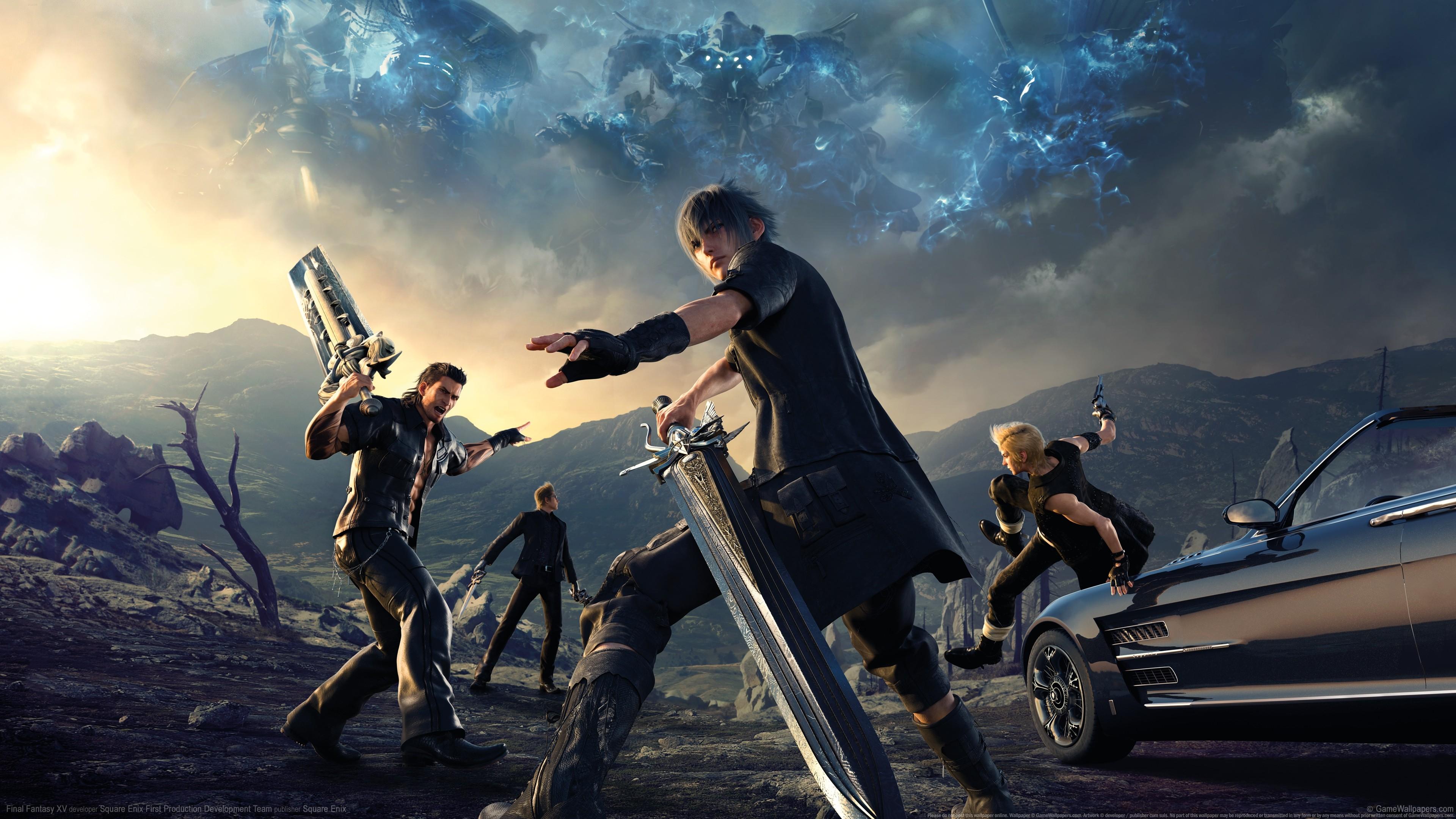 Gamer Final Fantasy XV Noctis Ignis Prompto Gladiolus Screenshot Atmosphere Of Earth Extreme Sport