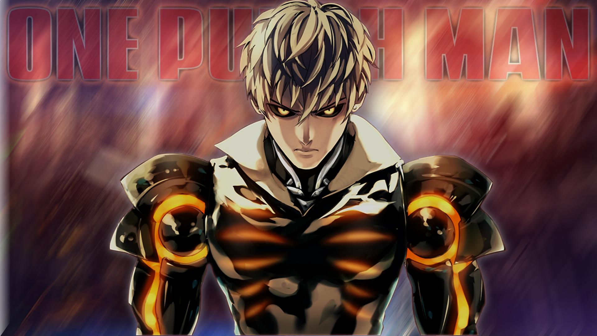 Wallpaper Genos One Punch Man Anime Boys Yellow Eyes Glowing