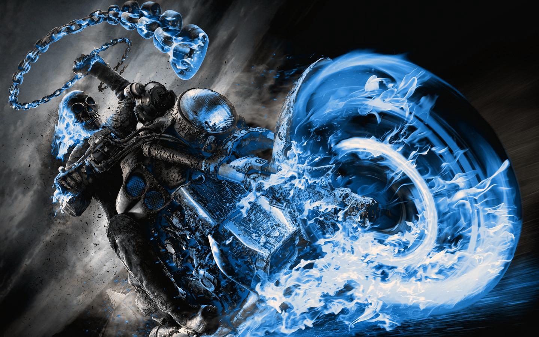 Wallpaper : Ghost Rider, chains, vehicle, Revenge Spirit