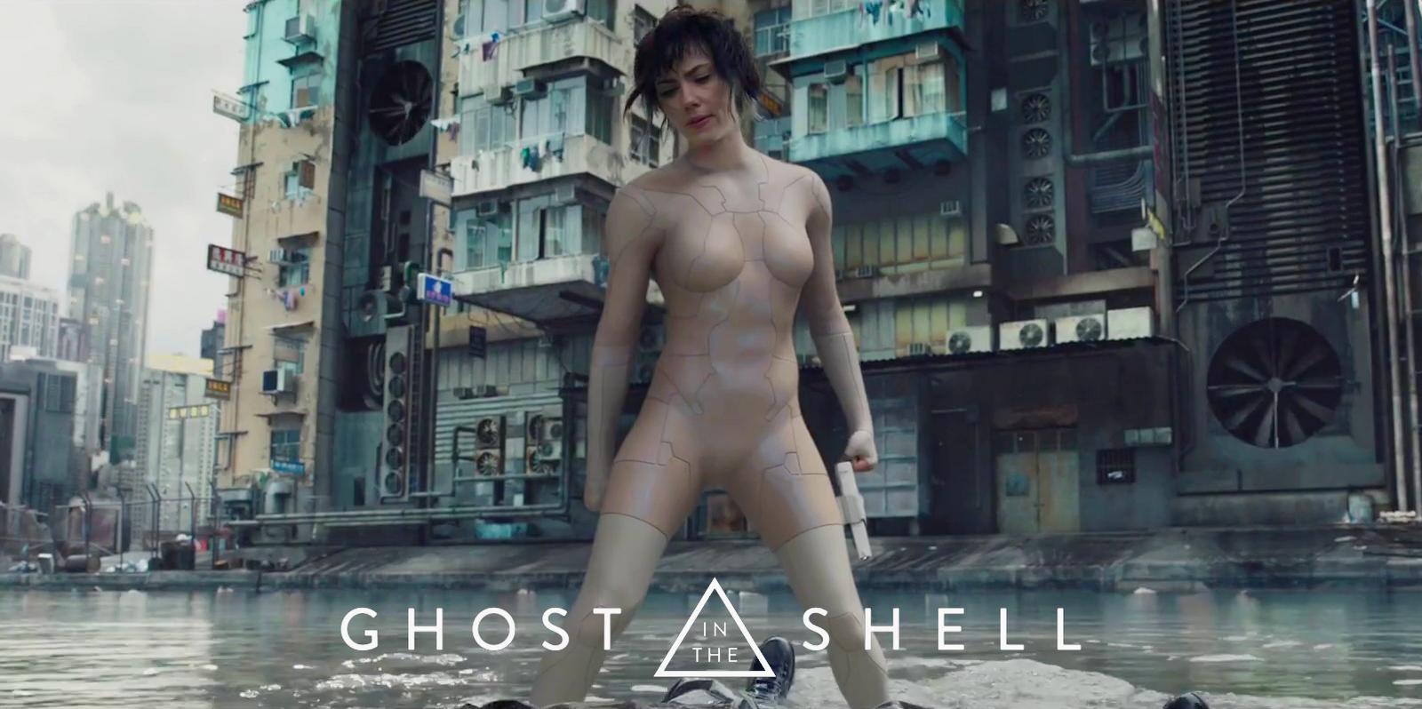 Wallpaper Ghost In The Shell Scarlett Johansson Cyberpunk City Bodysuit Brunette Cyborg Kusanagi Motoko 1600x798 Wall1223 1368911 Hd Wallpapers Wallhere