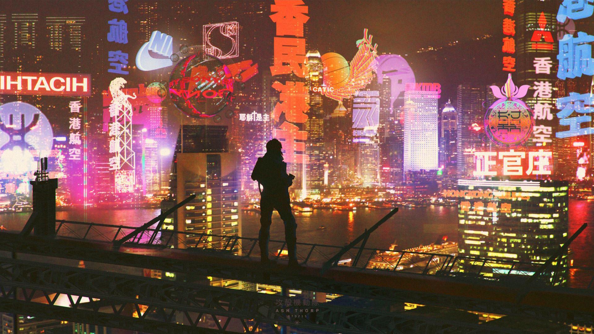 Wallpaper Ghost In The Shell Cityscape Cyberpunk 1920x1080 Chrishun88 1453193 Hd Wallpapers Wallhere
