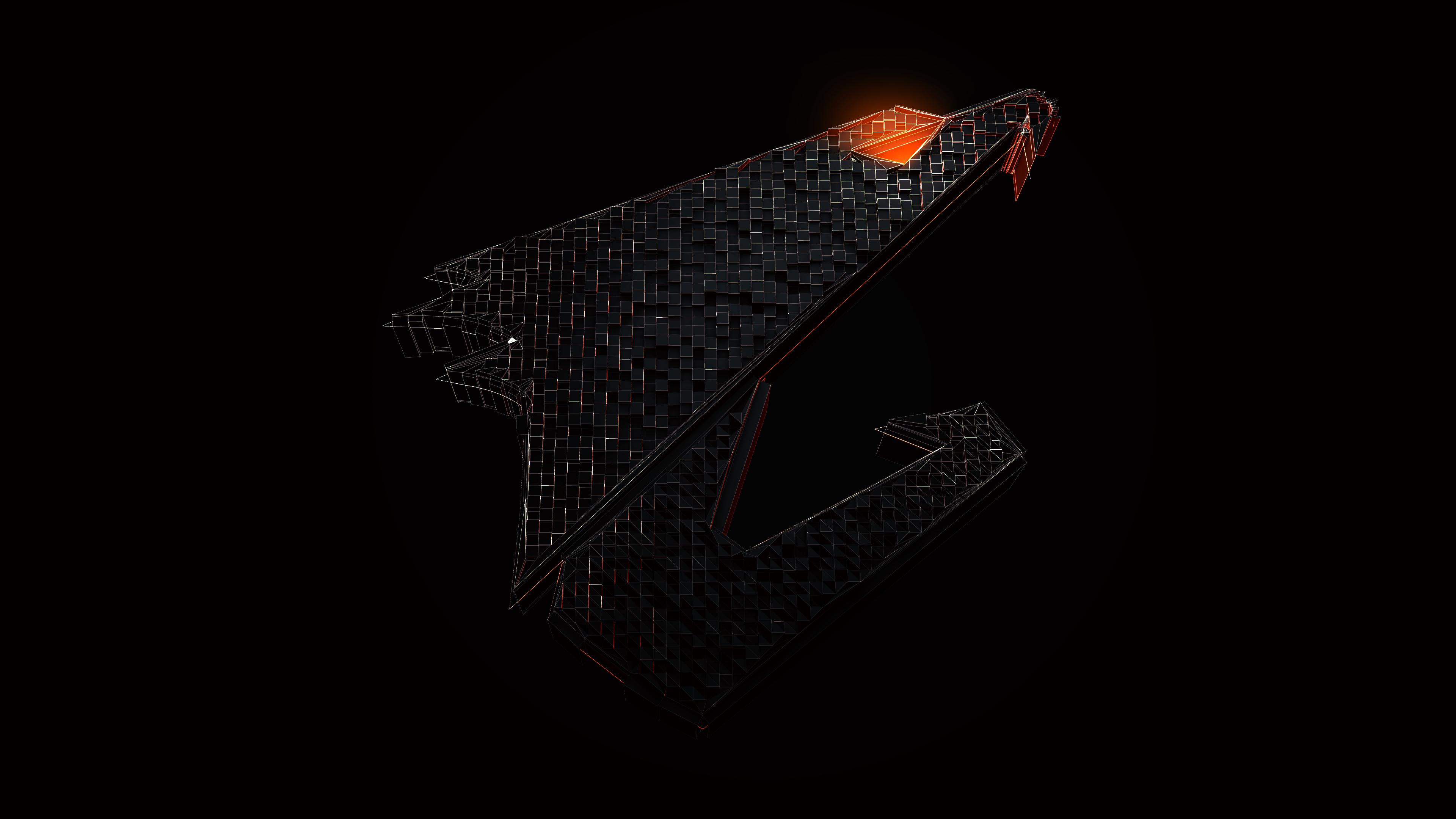 Wallpaper gigabyte aorus logo pc gaming technology - Gaming logo wallpaper ...