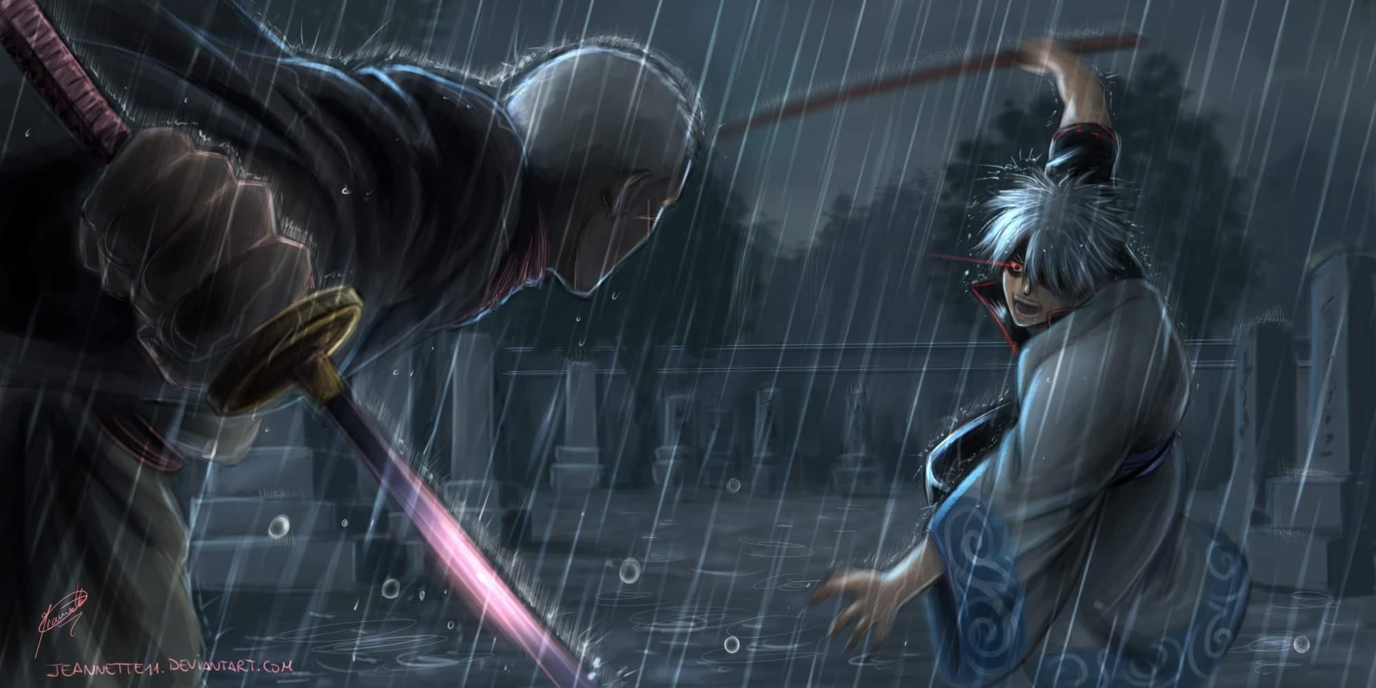 Wallpaper Gintama Sakata Gintoki Darkness Screenshot
