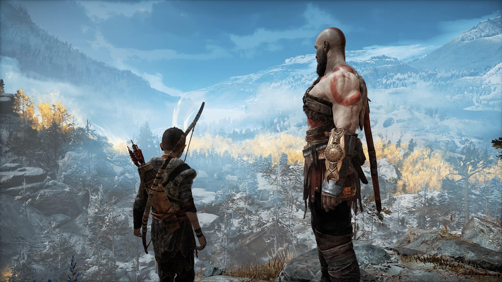 Wallpaper God Of War 2018 Kratos Atreus 1920x1080