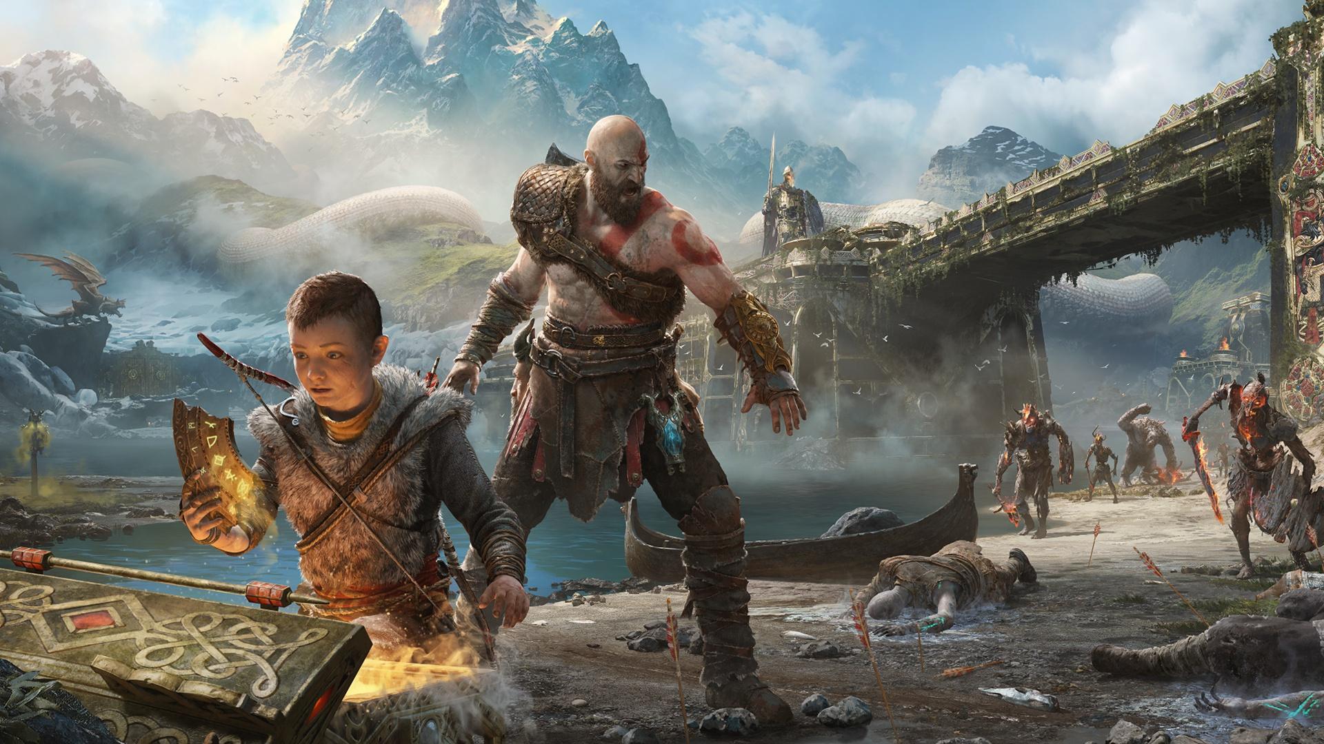 Wallpaper God Of War God Of War 2018 Kratos Video Games