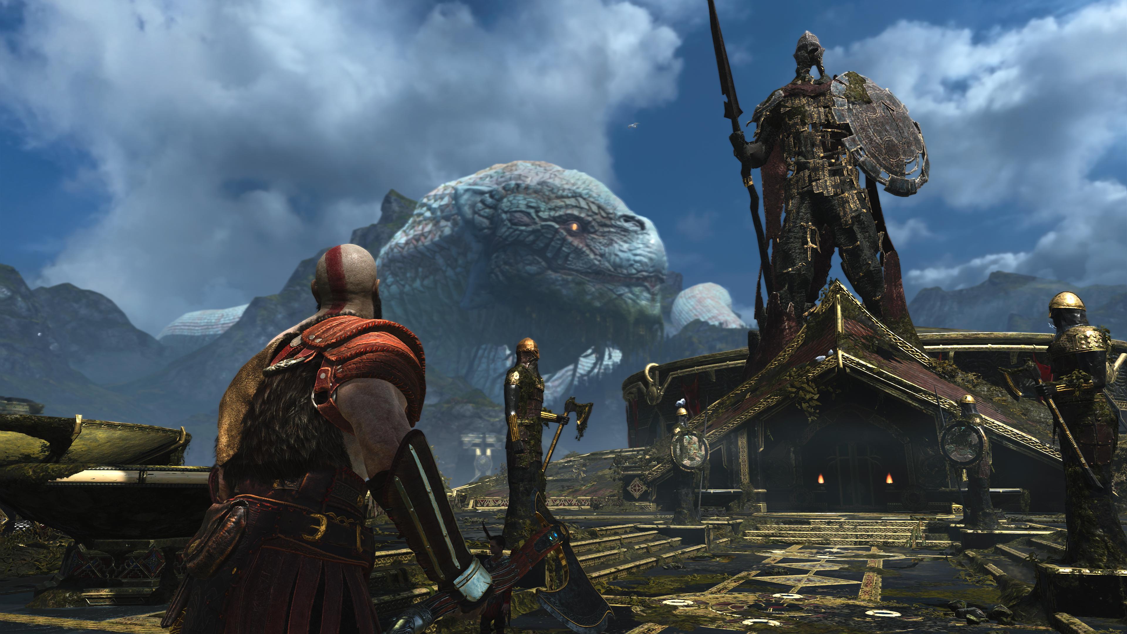 Wallpaper God Of War Kratos Atreus Playstation 4 Norse