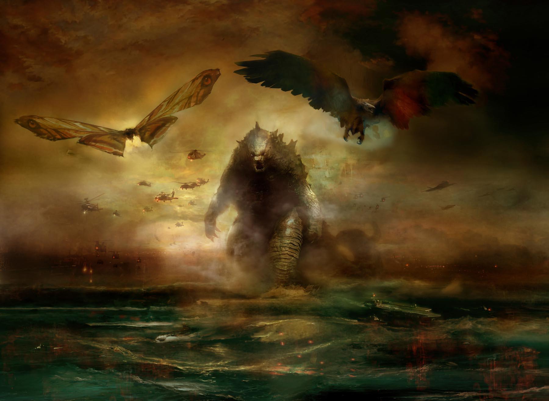 Wallpaper Godzilla King Of The Monsters Kaiju Creature Rodan
