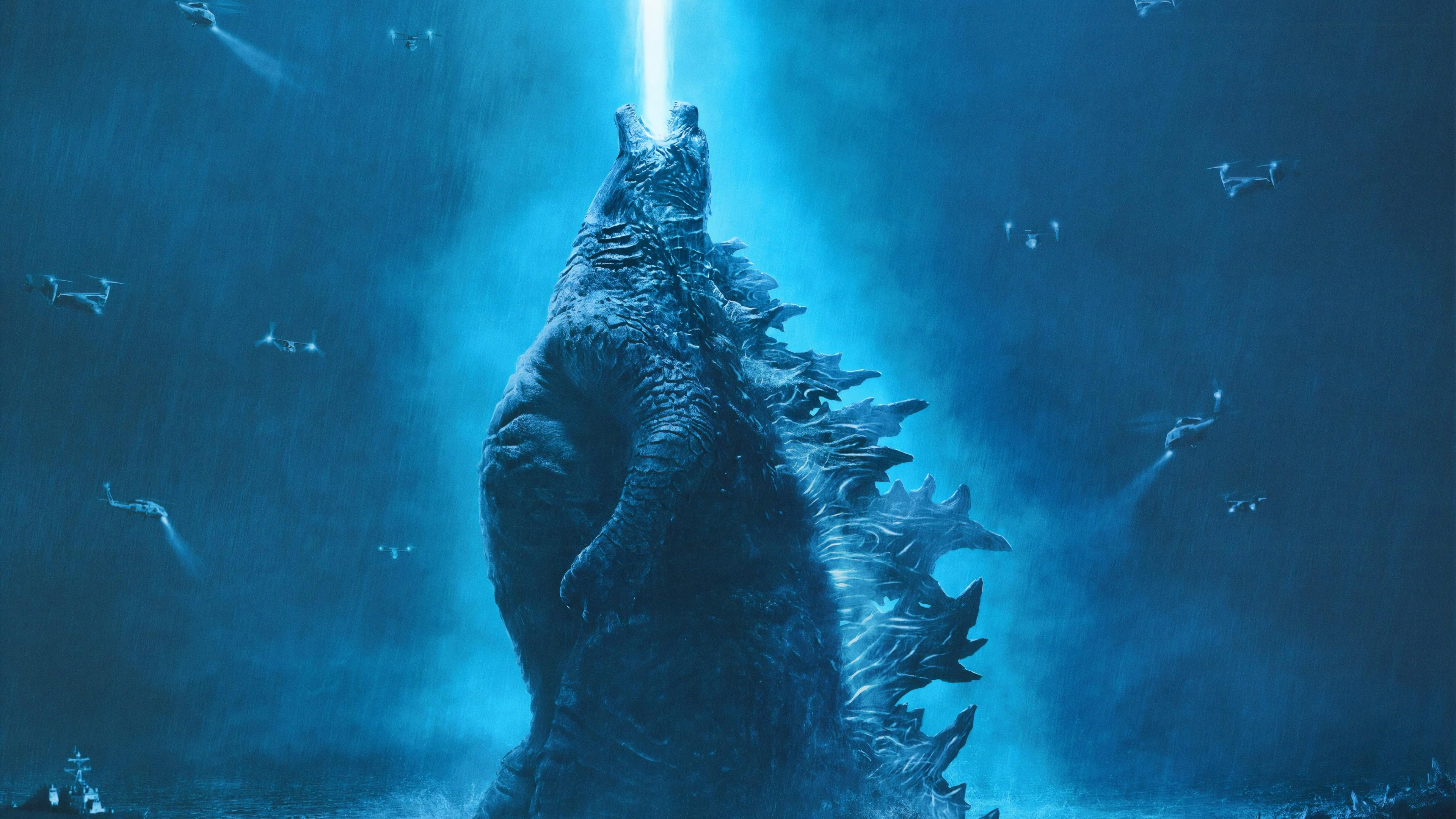Hintergrundbilder  Godzilla King of the Monsters, Filme, blau ...