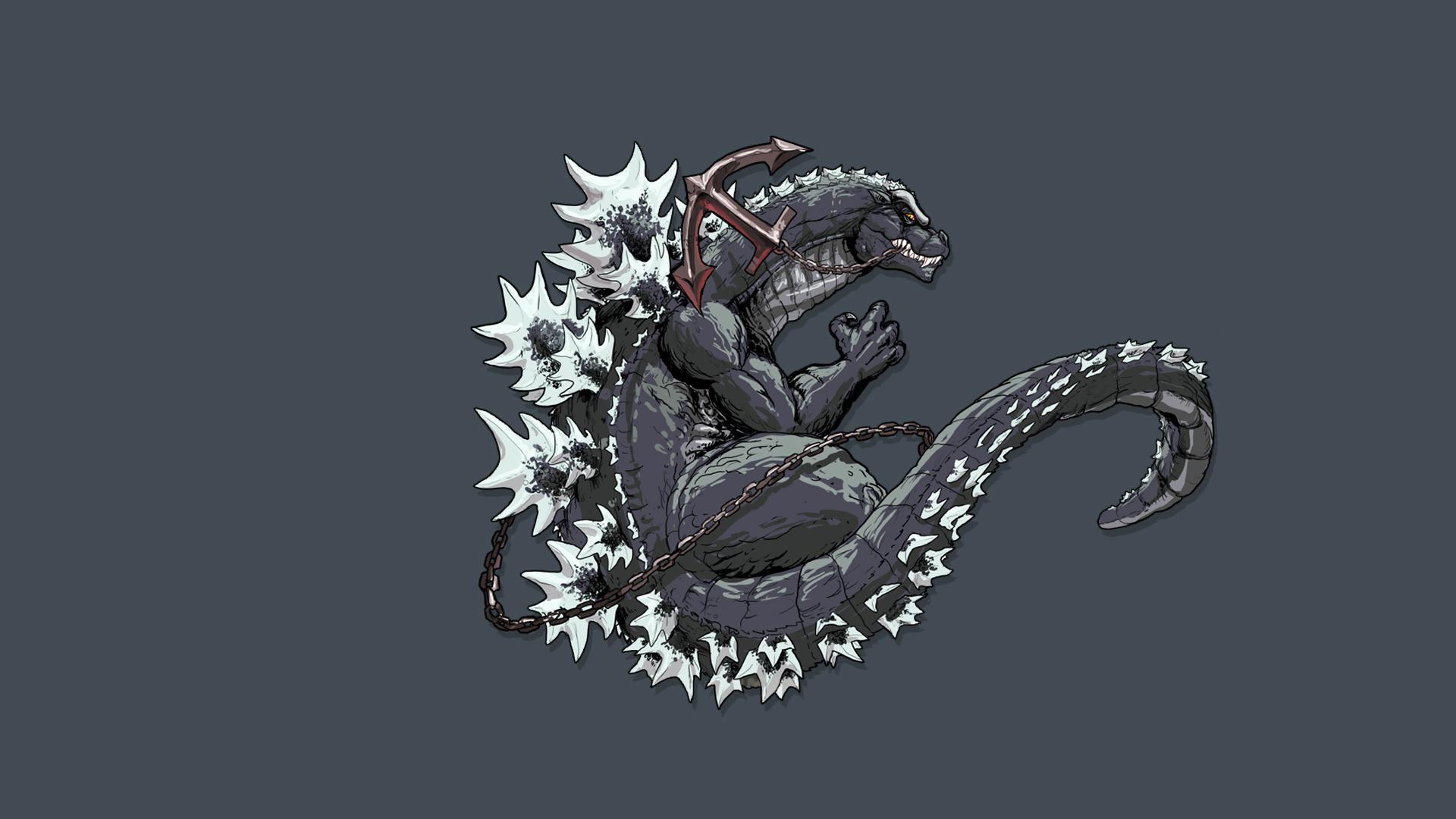 Godzilla monster ART dinosaur tail anchor