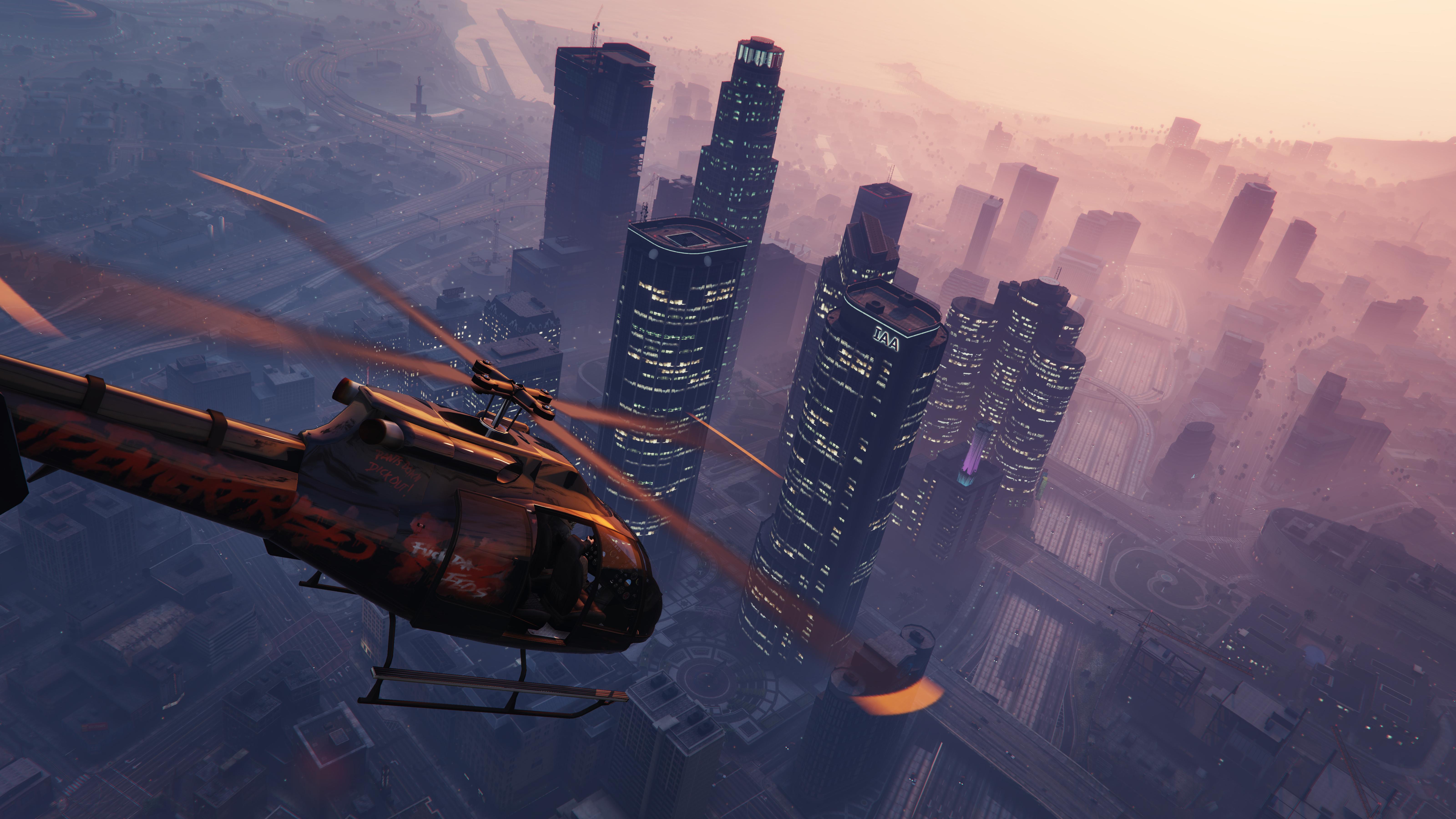 Grand Theft Auto V gta 5 helicopter sky building