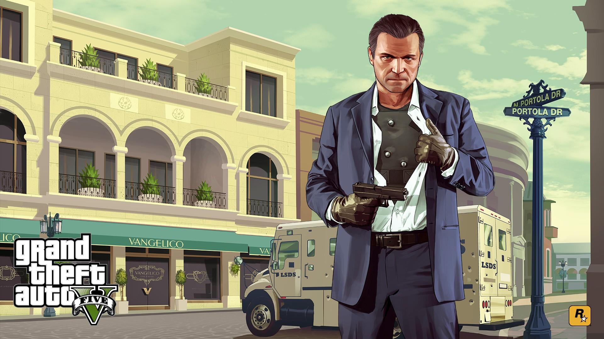 Fondos De Pantalla Grand Theft Auto V Personajes De