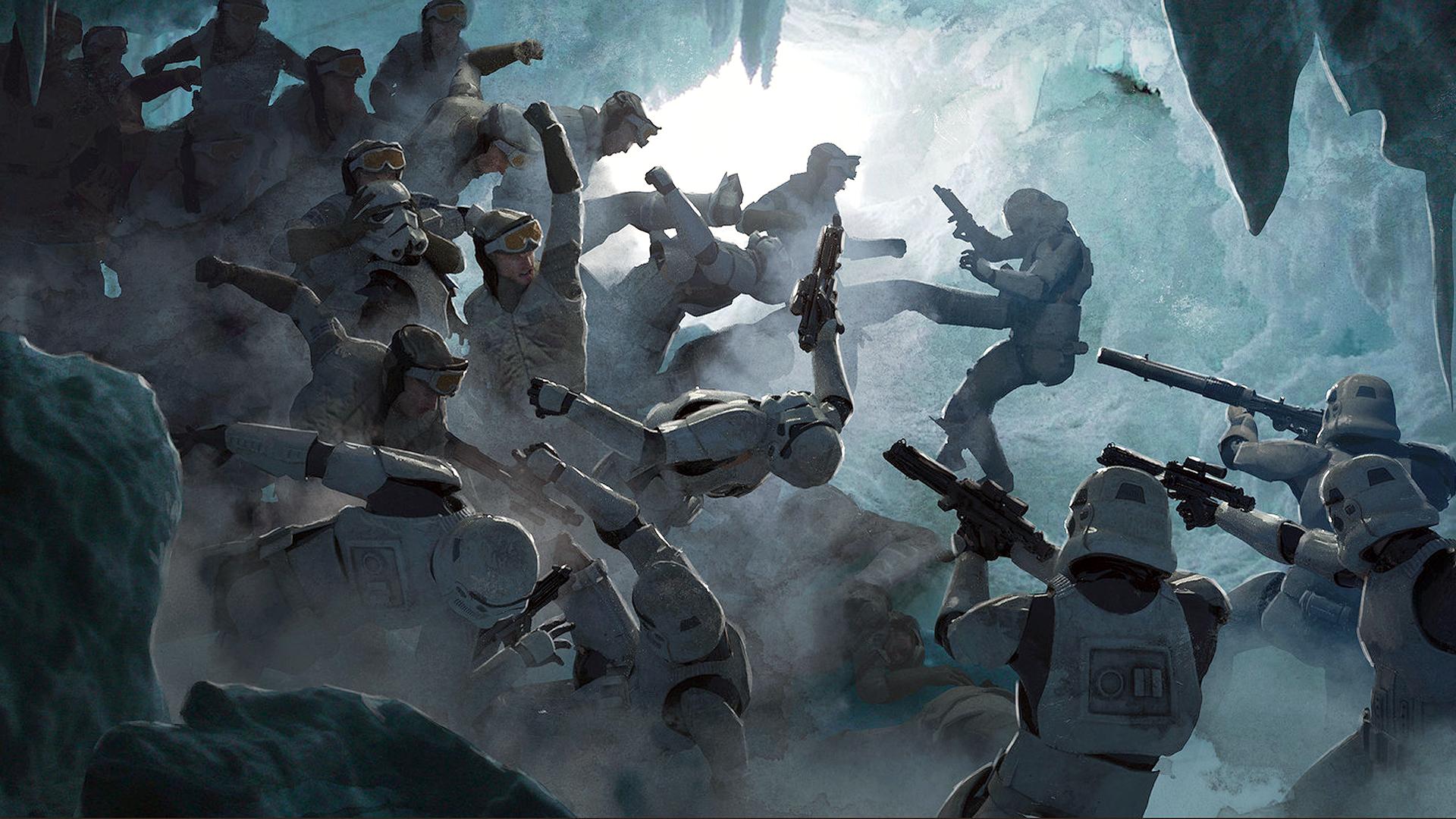 Wallpaper Guillem H Pongiluppi Digital Art Artwork Star Wars Stormtrooper Rebels Battle Ice Cave Kick Blaster Movie Characters Science Fiction 1920x1080 Benabuggs 1695397 Hd Wallpapers Wallhere