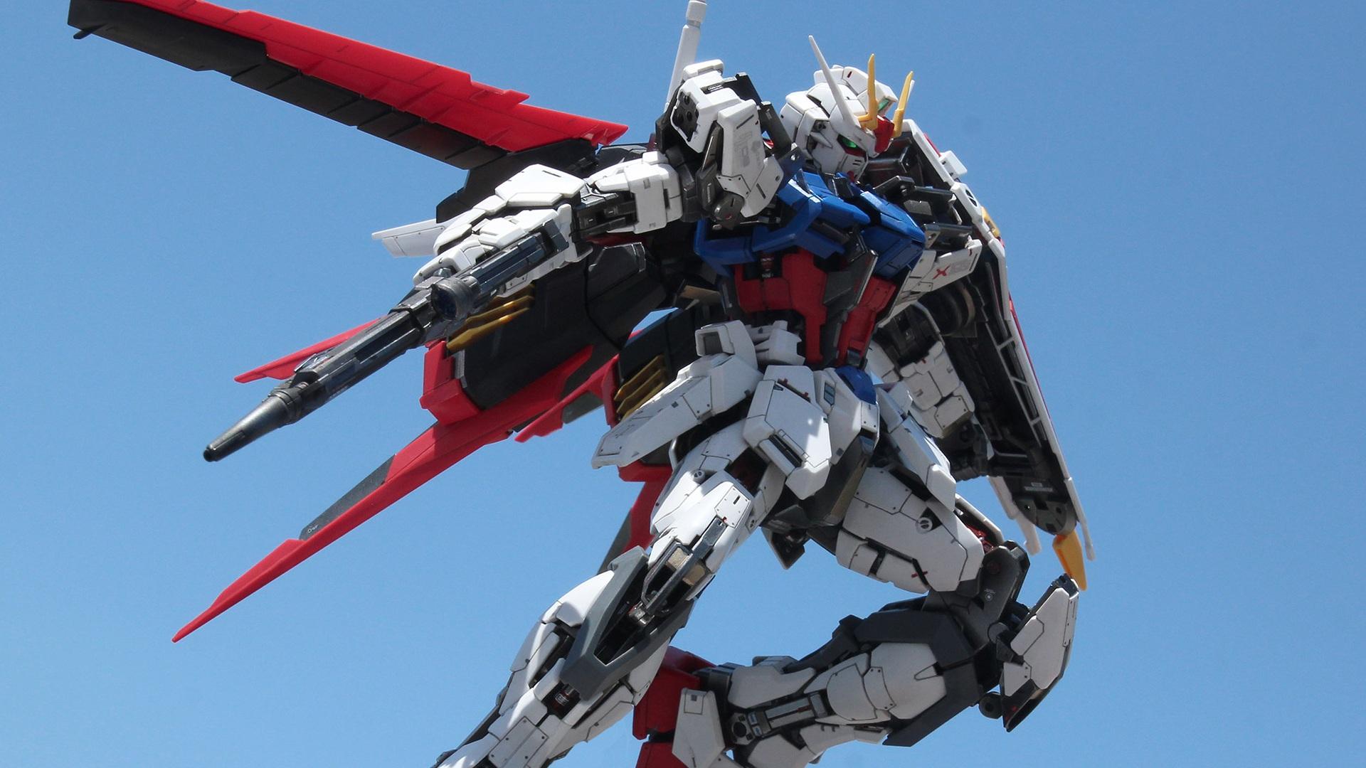 Wallpaper Gundam Aile Strike Gunpla Josh Darrah