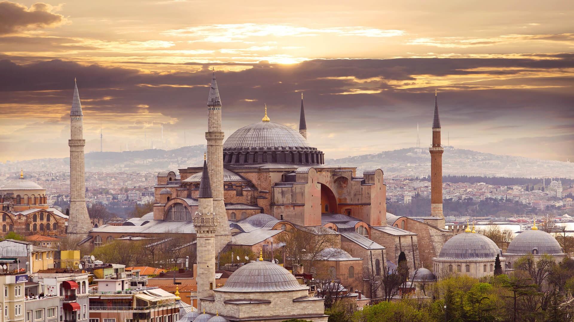 Wallpaper : Hagia Sophia, city, Istanbul, Turkey, architecture 1920x1080